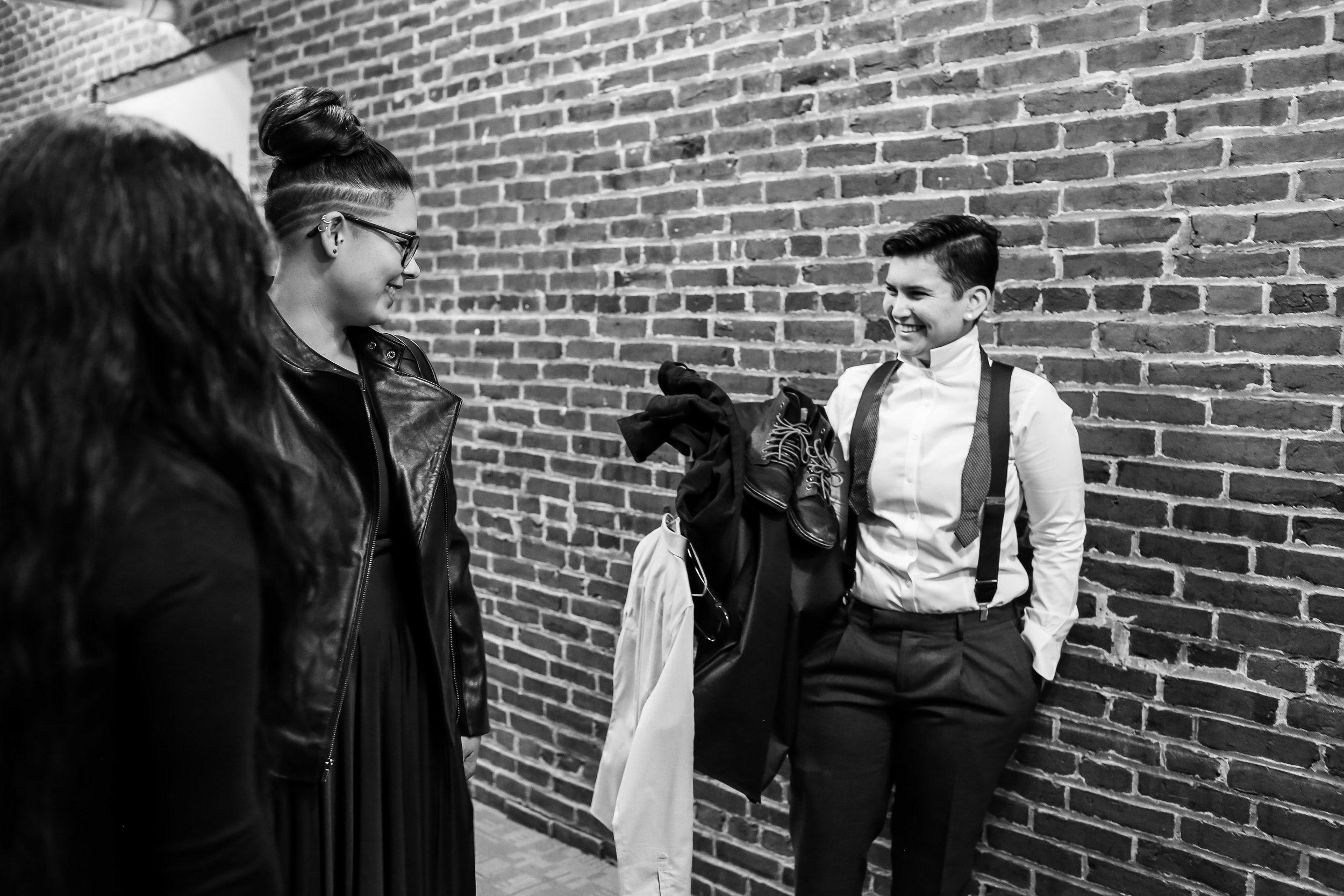 Patriotic LGBTQ Winter Styled Wedding 10