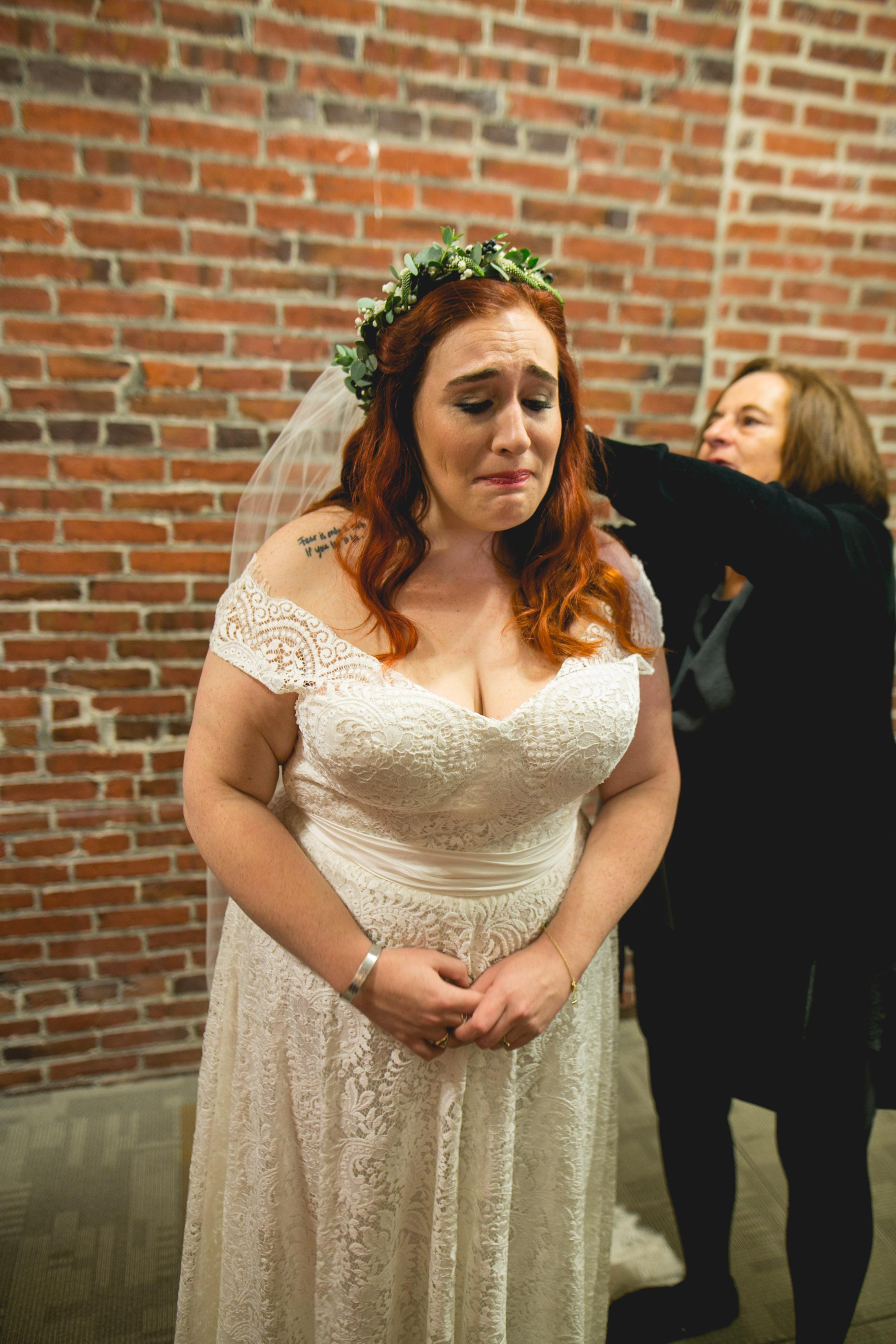 Patriotic LGBTQ Winter Styled Wedding 11