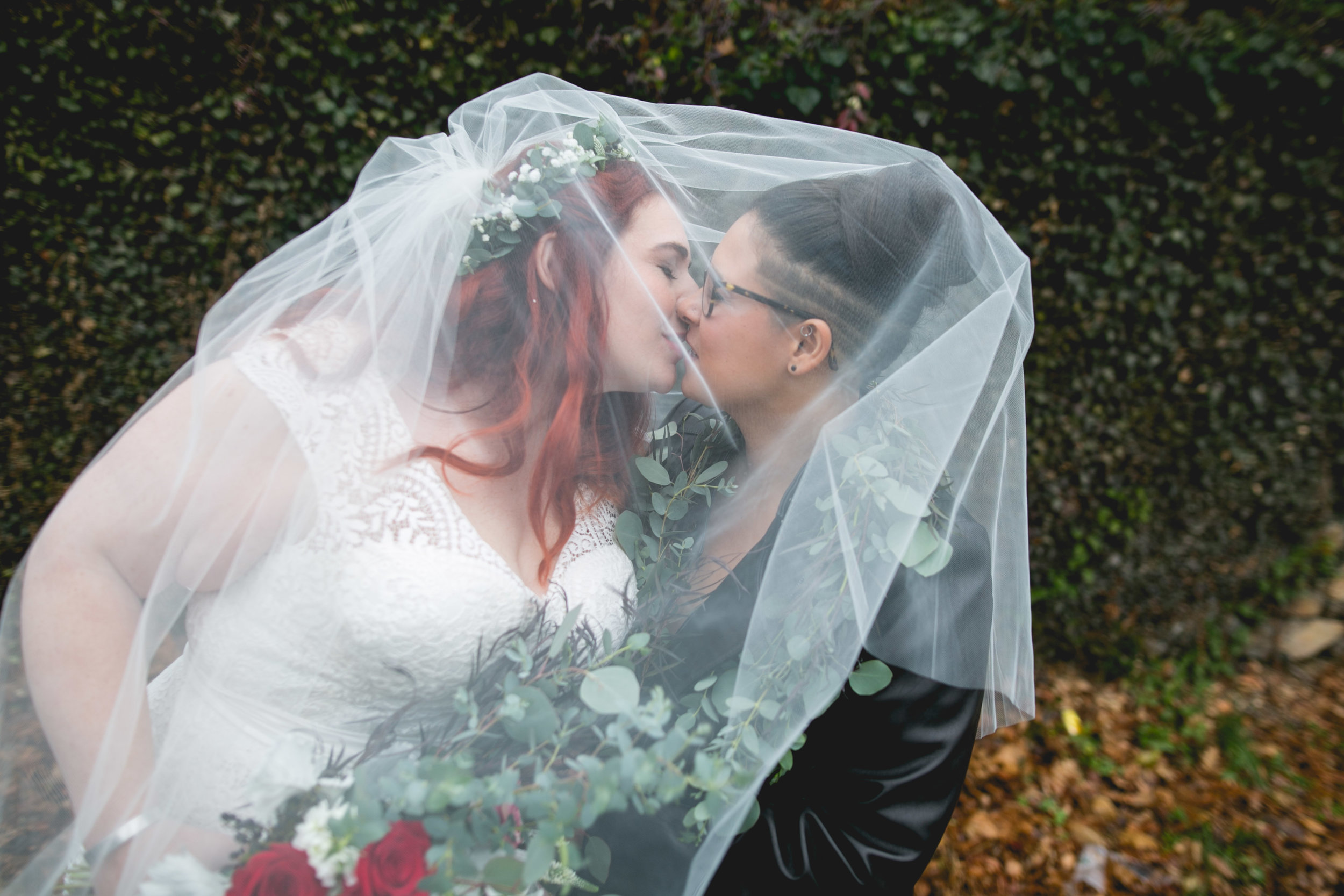 Patriotic LGBTQ Winter Styled Wedding 21