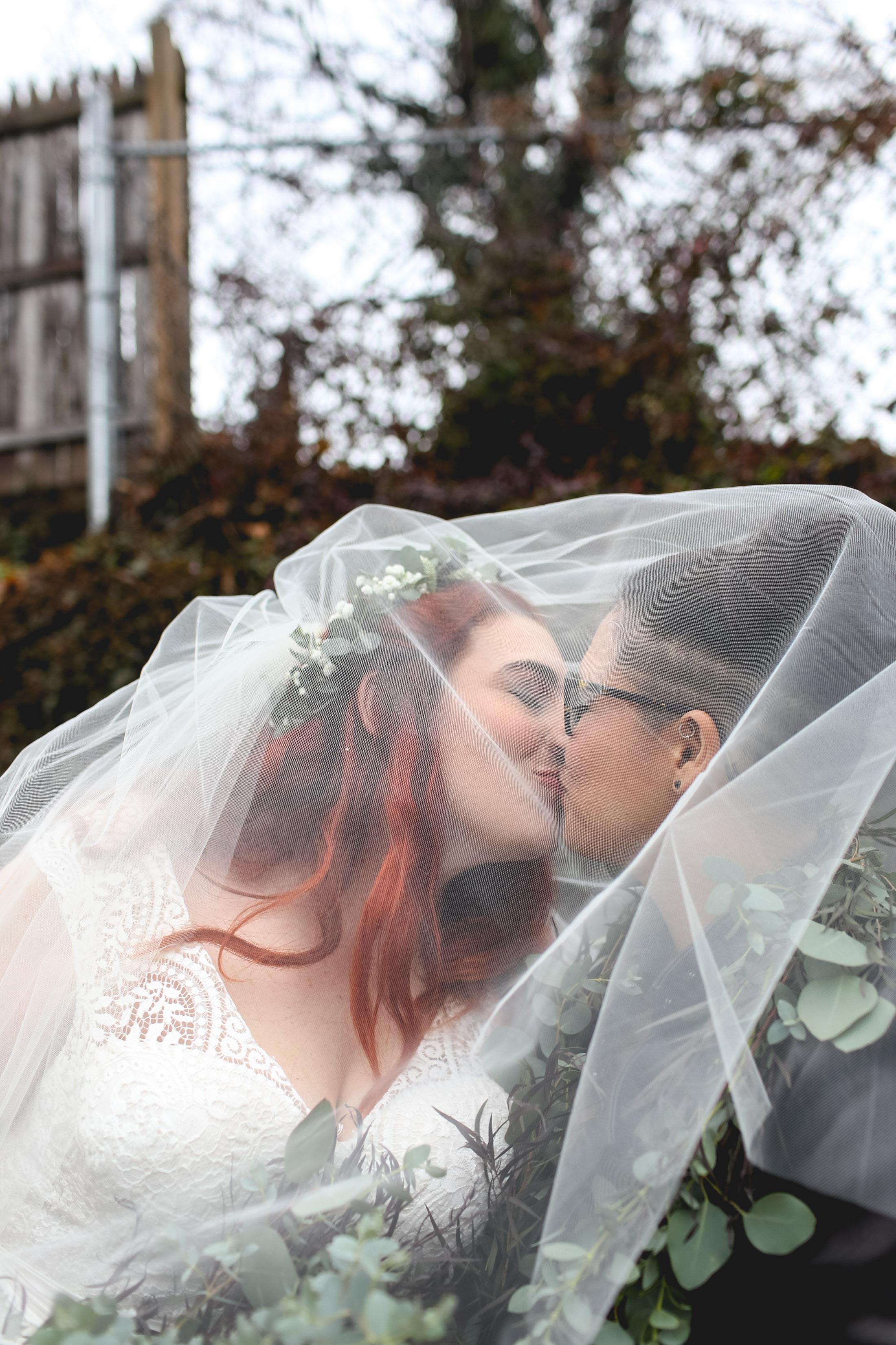Patriotic LGBTQ Winter Styled Wedding 23