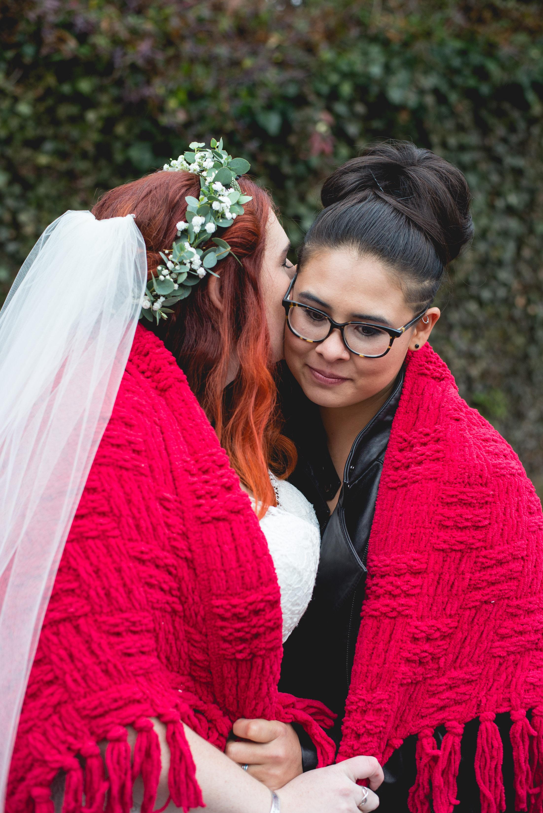 Patriotic LGBTQ Winter Styled Wedding 27