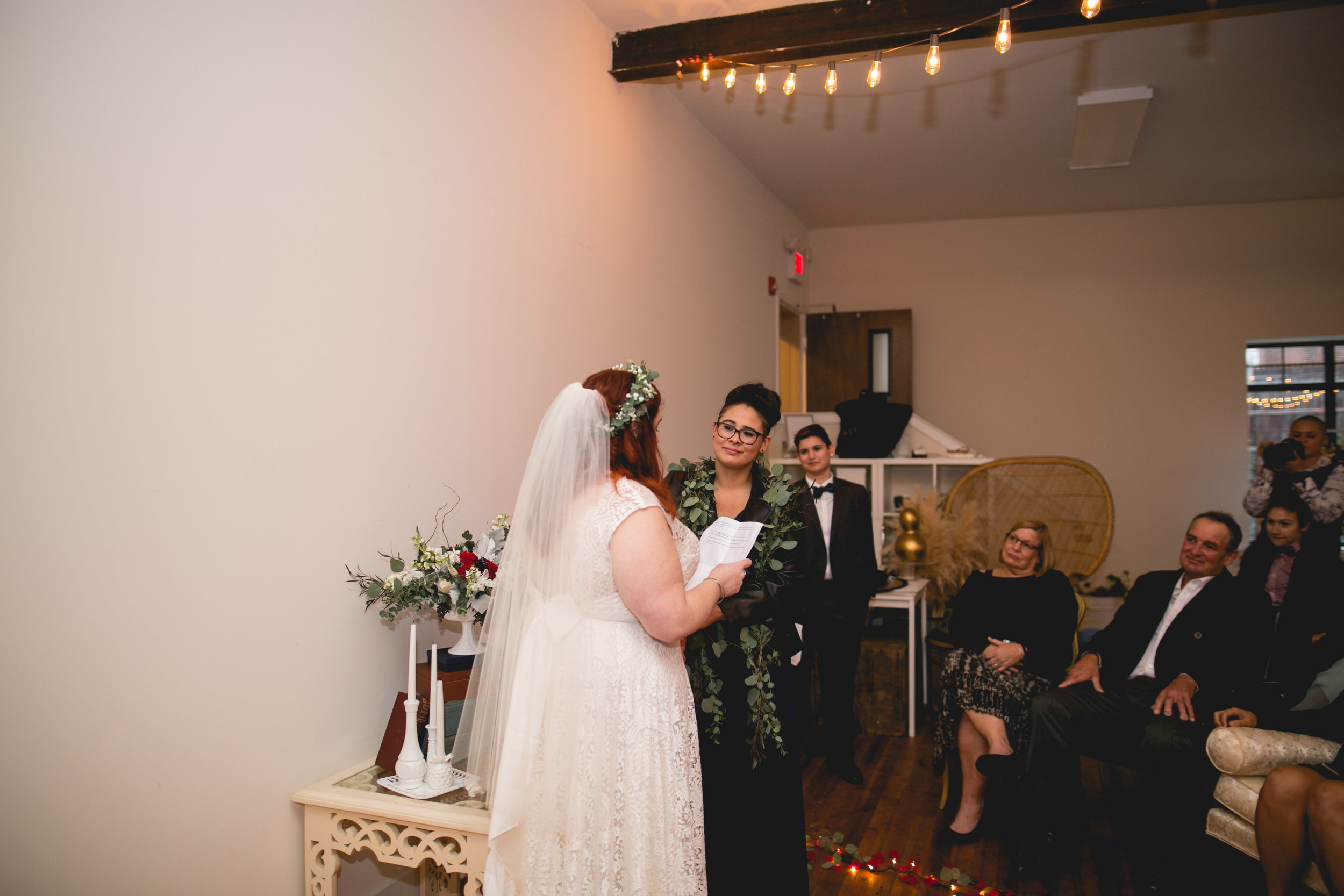 Patriotic LGBTQ Winter Styled Wedding 40