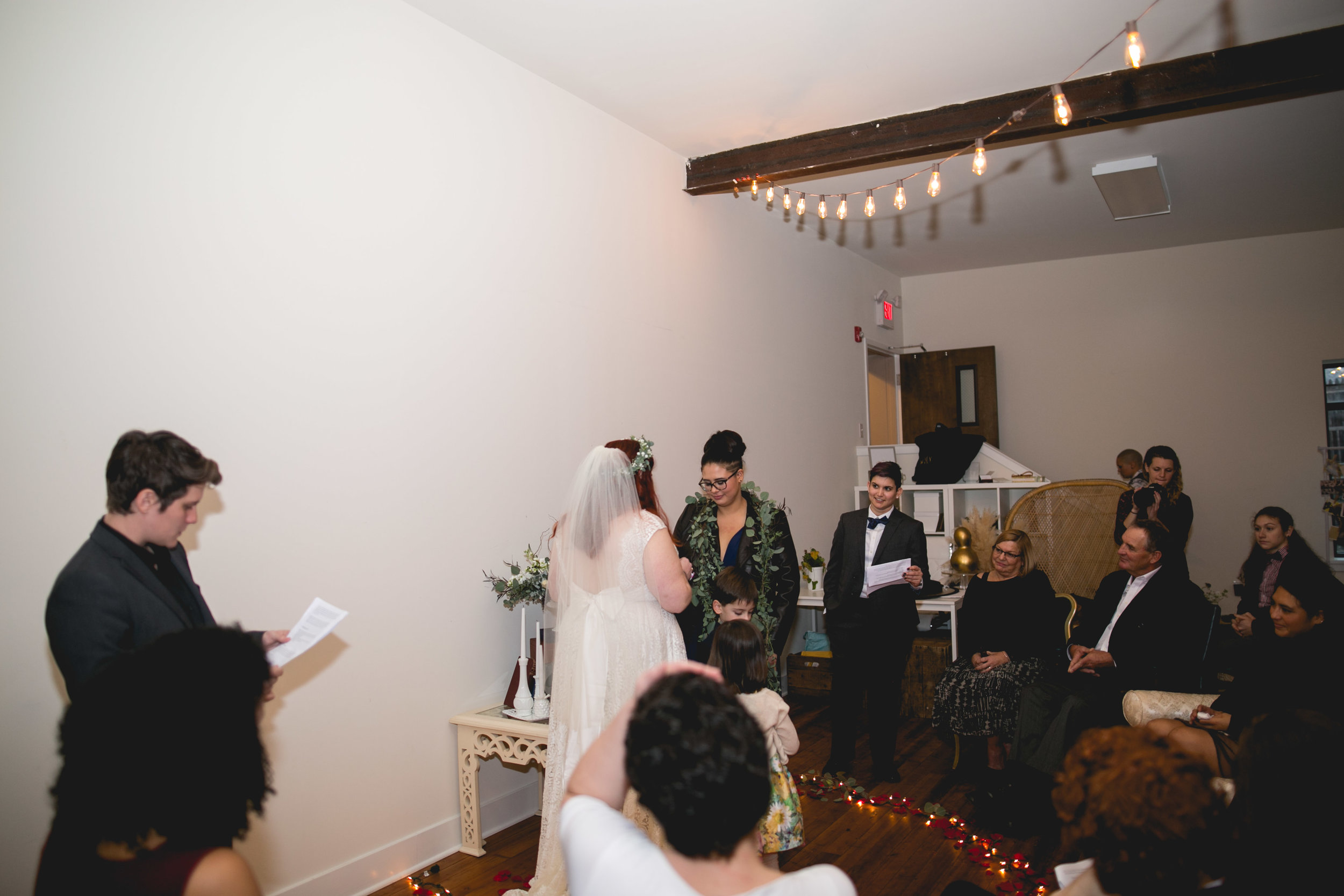 Patriotic LGBTQ Winter Styled Wedding 41