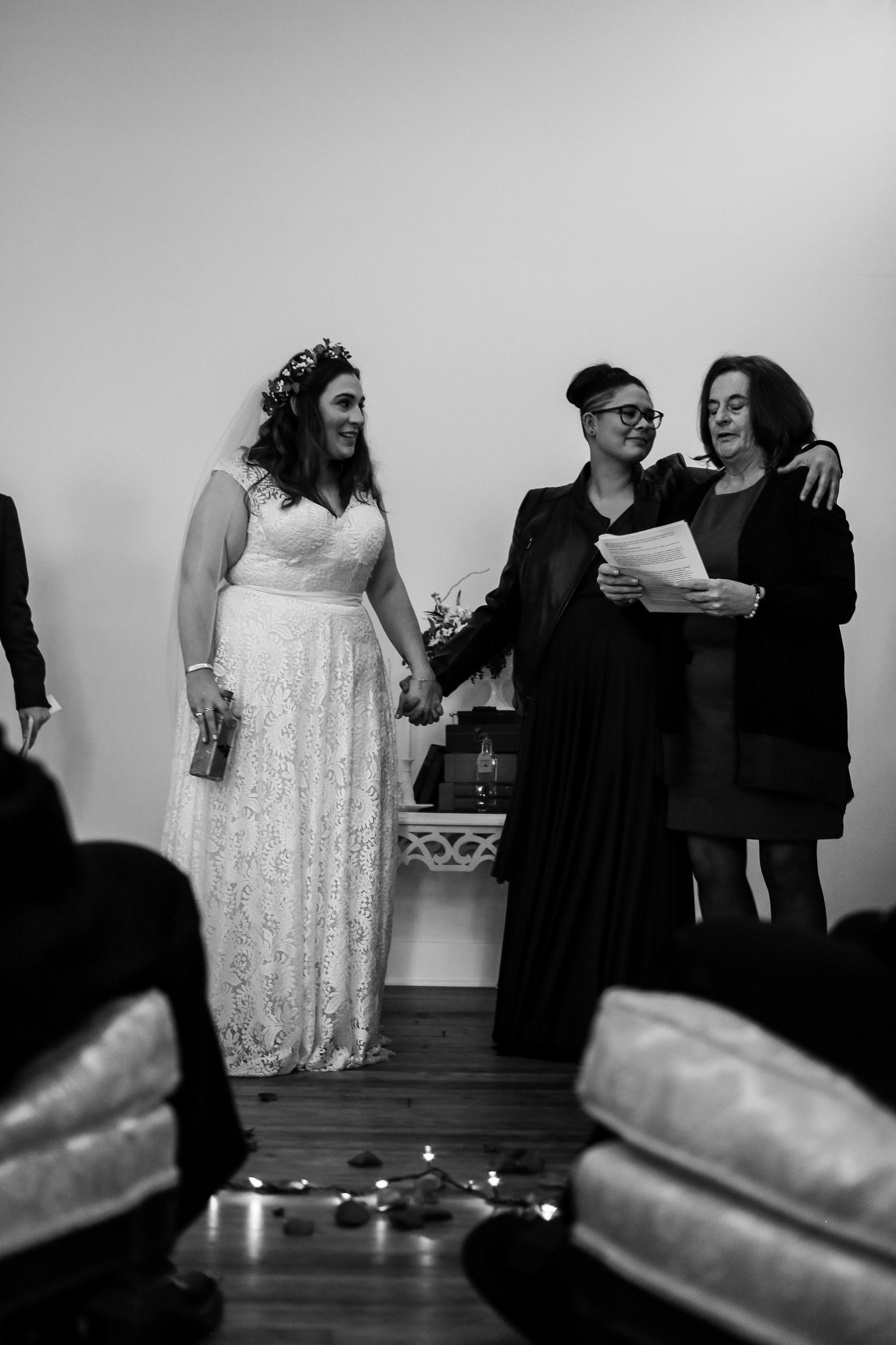 Patriotic LGBTQ Winter Styled Wedding 42