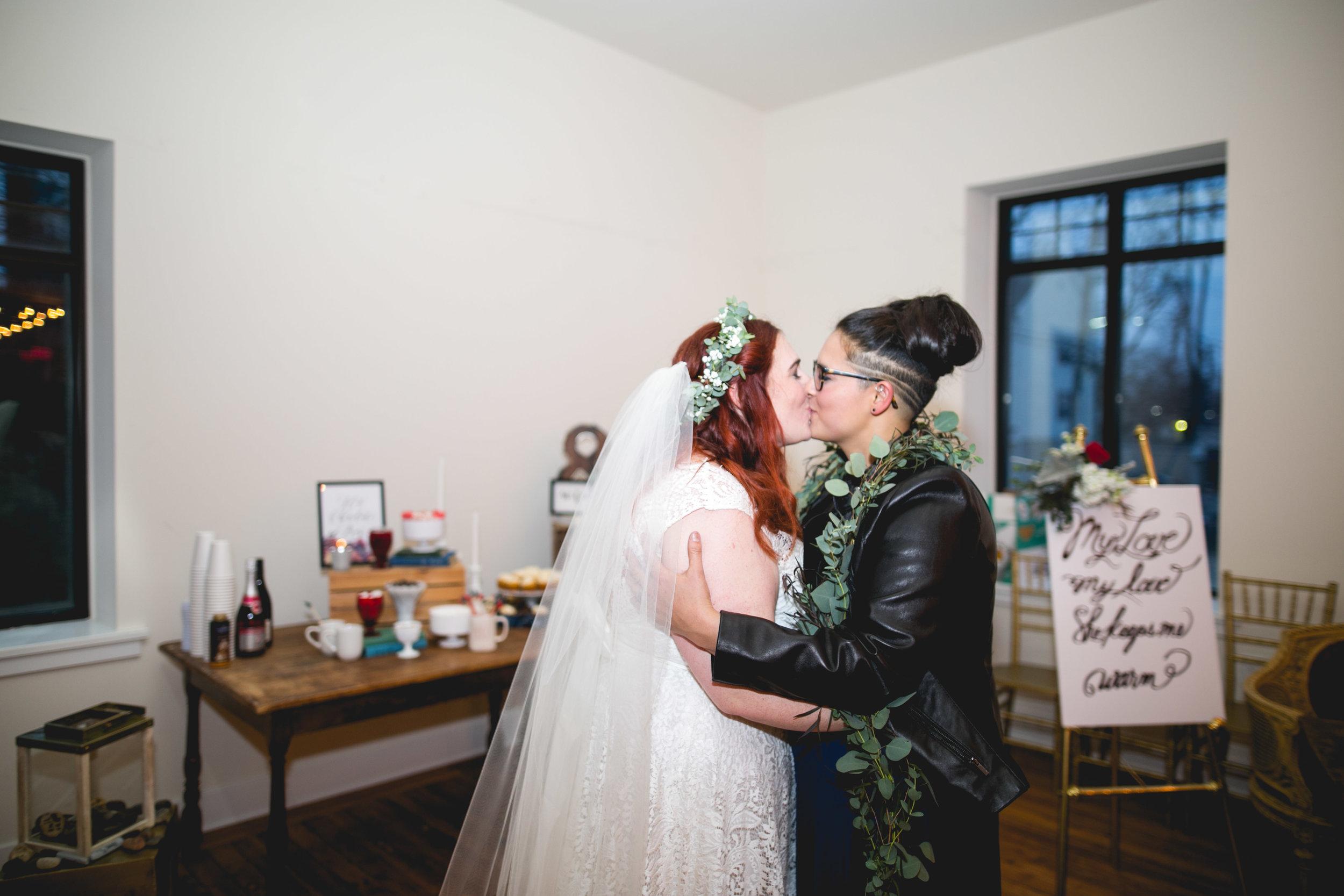 Patriotic LGBTQ Winter Styled Wedding 56