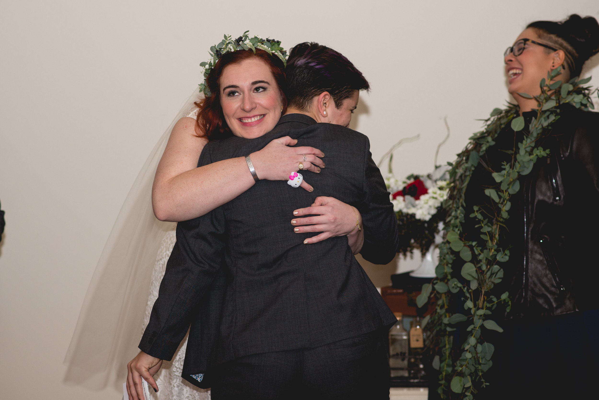 Patriotic LGBTQ Winter Styled Wedding 47