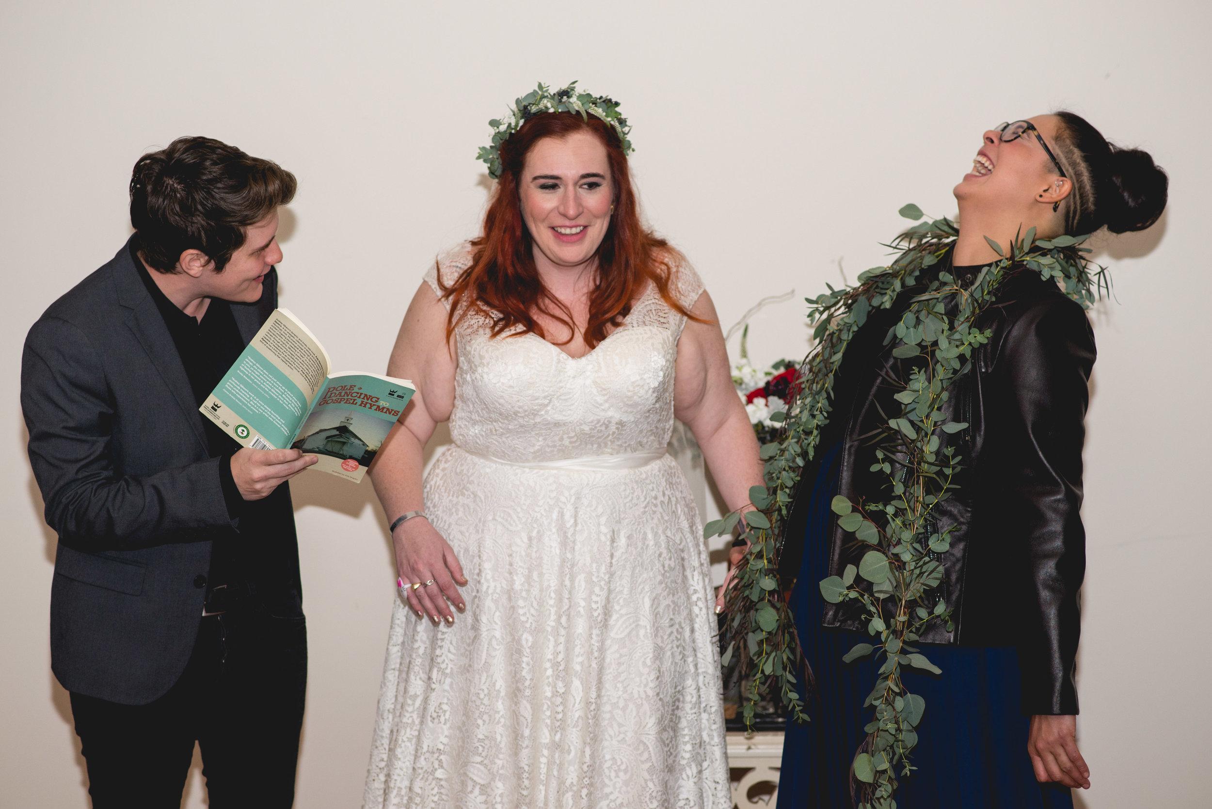 Patriotic LGBTQ Winter Styled Wedding 46