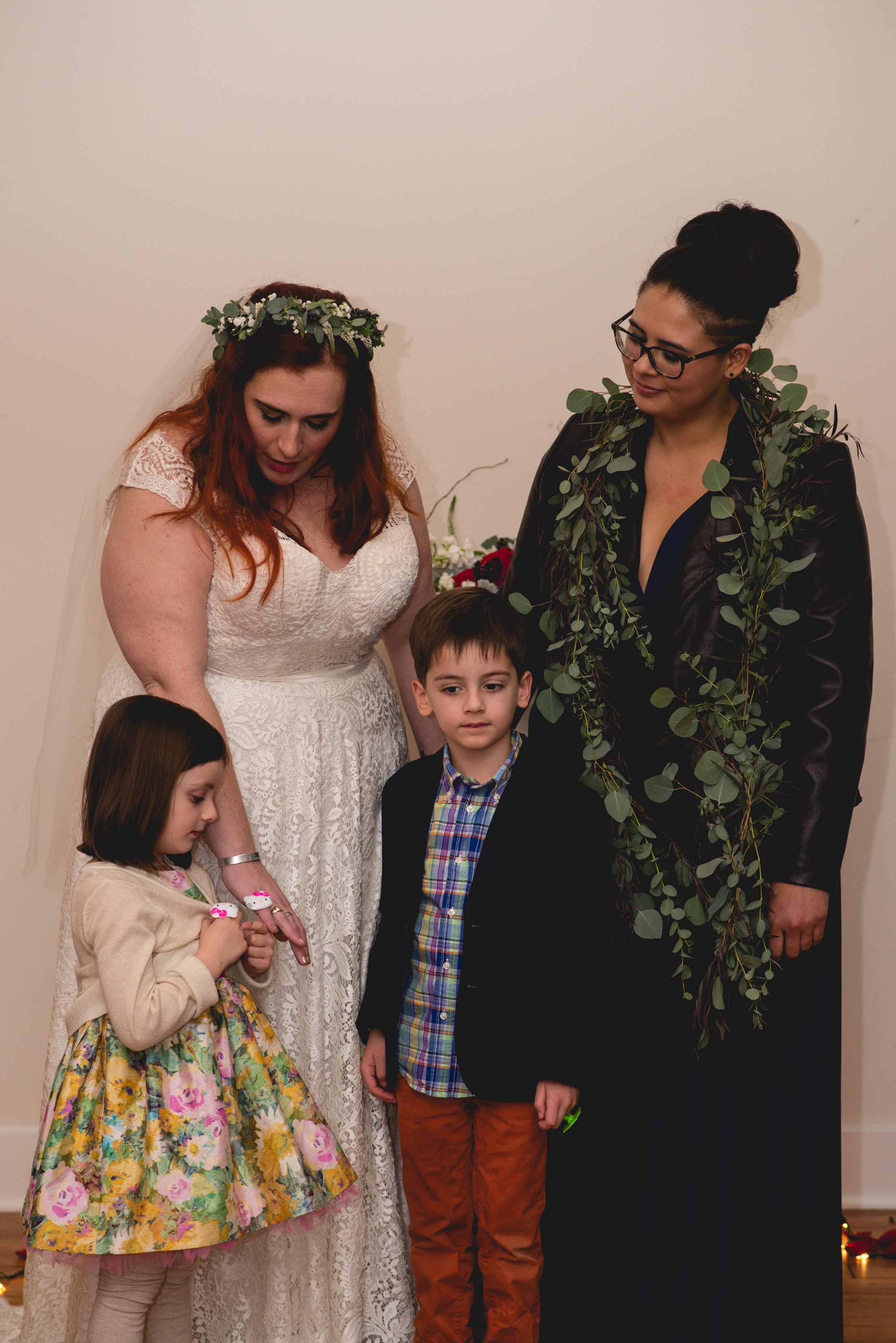 Patriotic LGBTQ Winter Styled Wedding 50