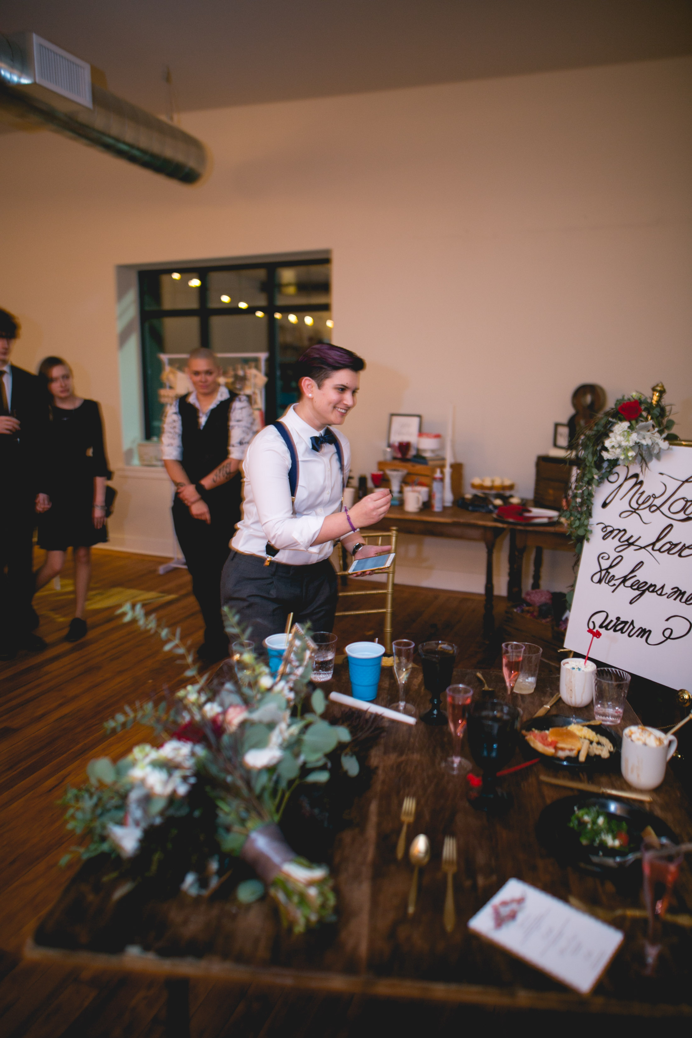 Patriotic LGBTQ Winter Styled Wedding 61