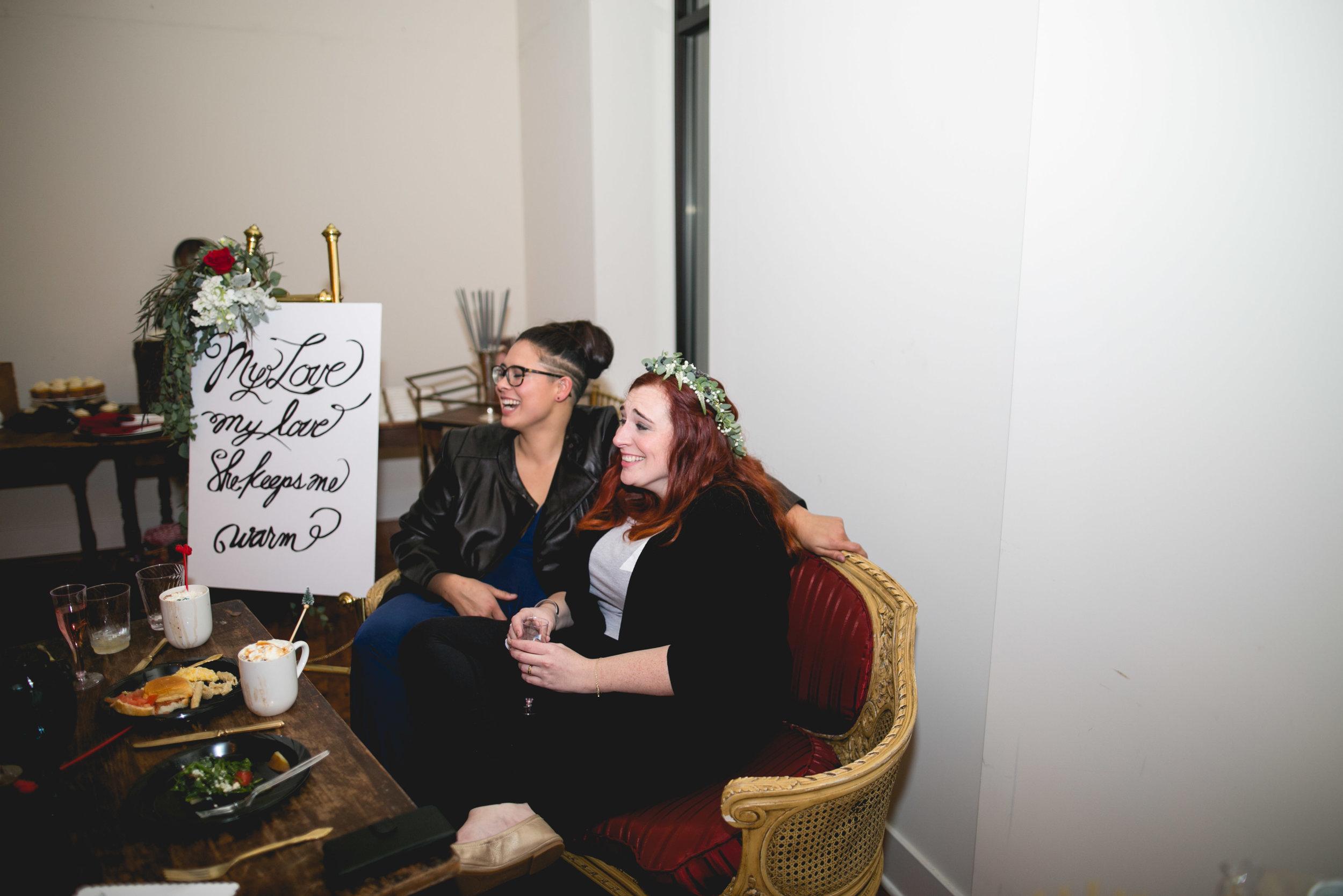Patriotic LGBTQ Winter Styled Wedding 63
