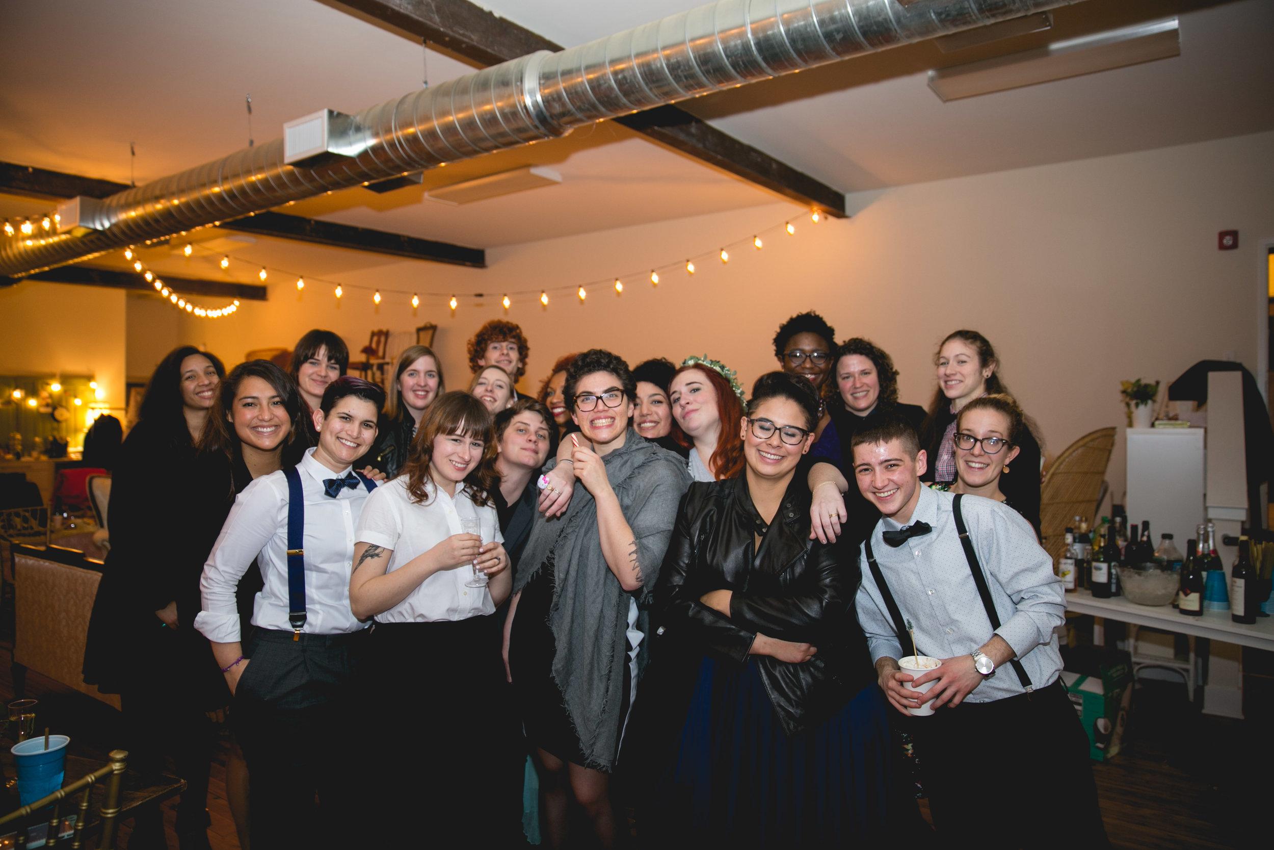 Patriotic LGBTQ Winter Styled Wedding 66