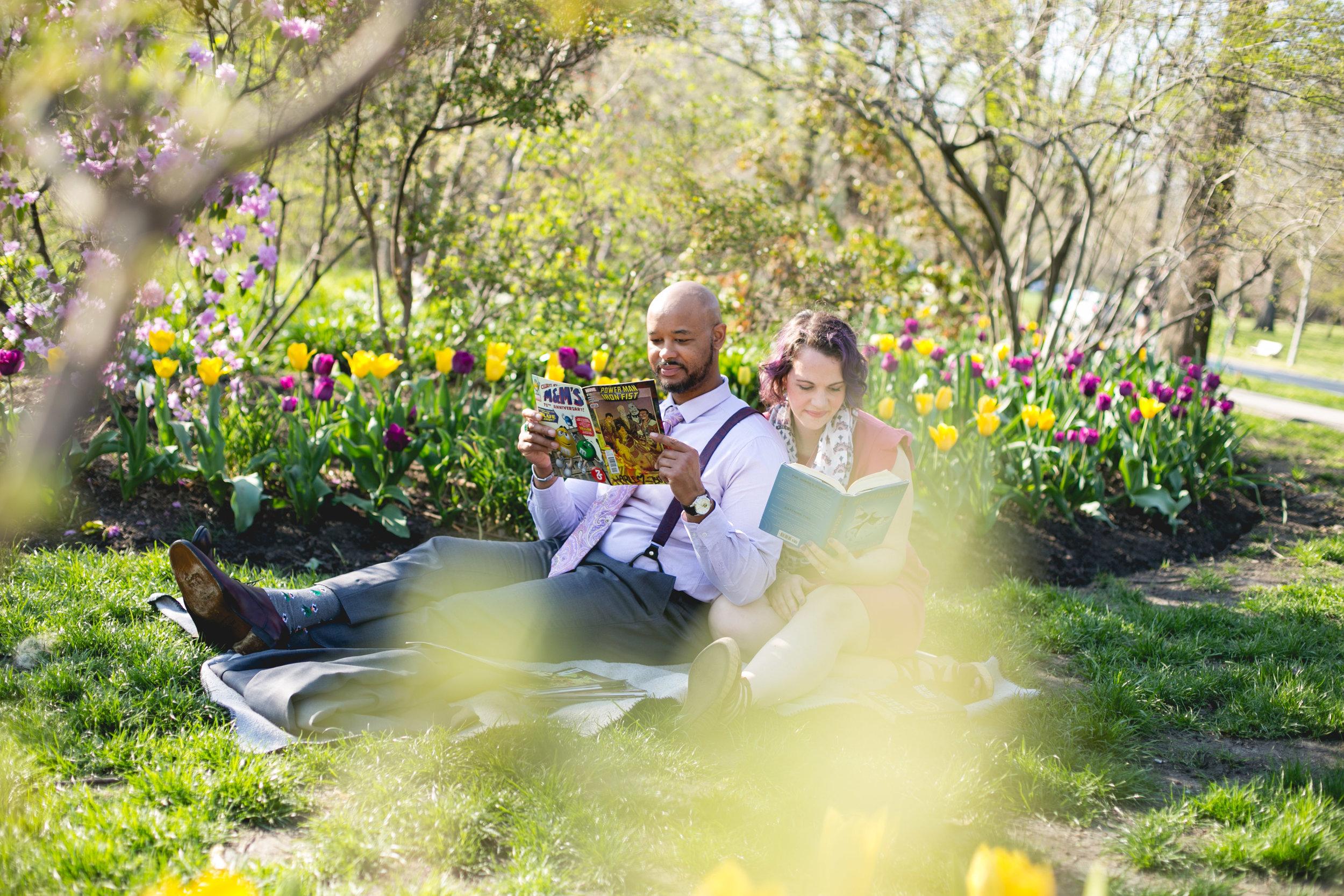 Philadelphia Spring Interacial Vibrant Engagement Shoot 7