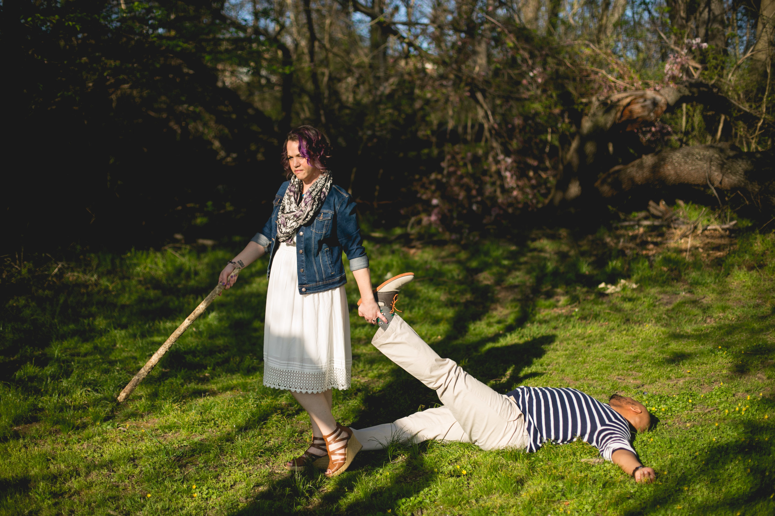 Philadelphia Spring Interacial Vibrant Engagement Shoot 2