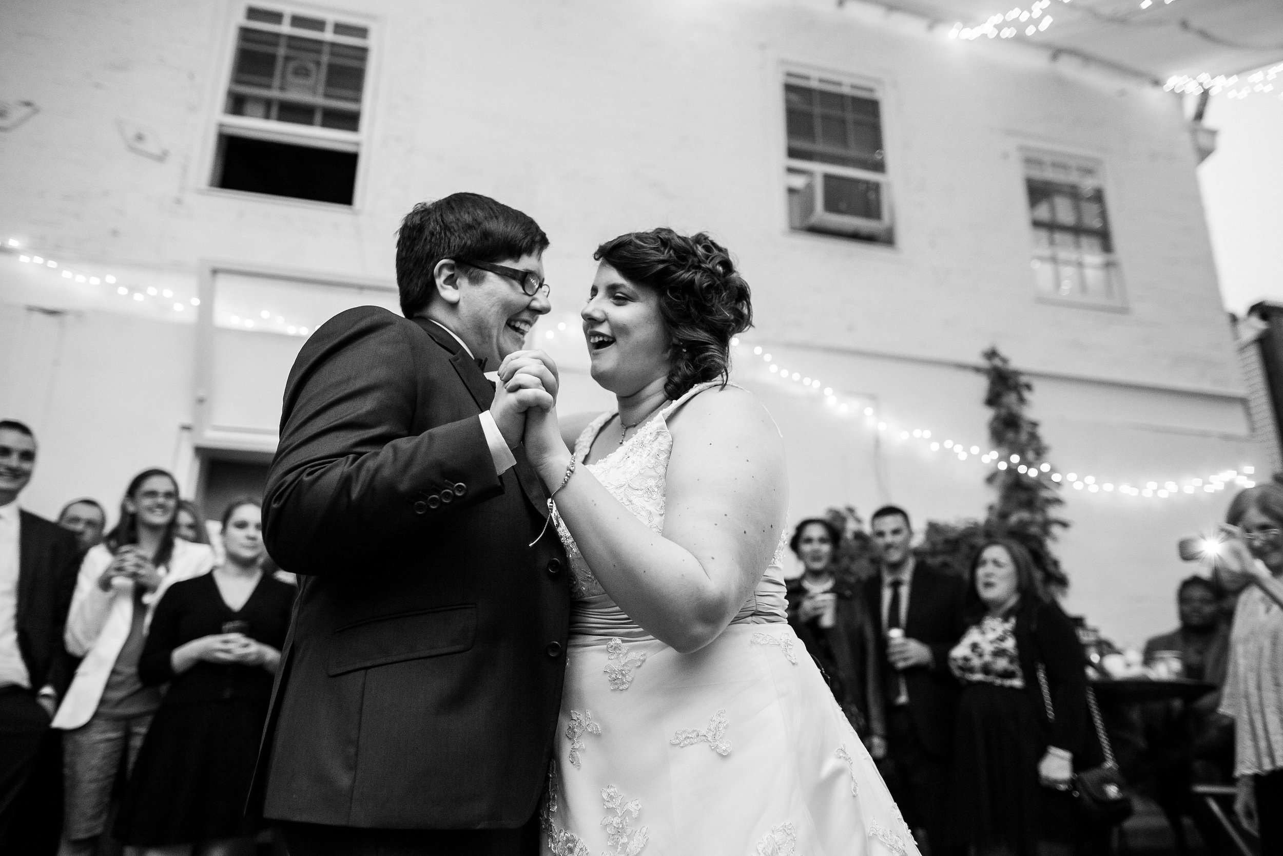 Rita and Angela had the sweetest wedding at The Maas Building despite rain messing up all of our plans. Their love for each other couldn't be dampened by a little rain