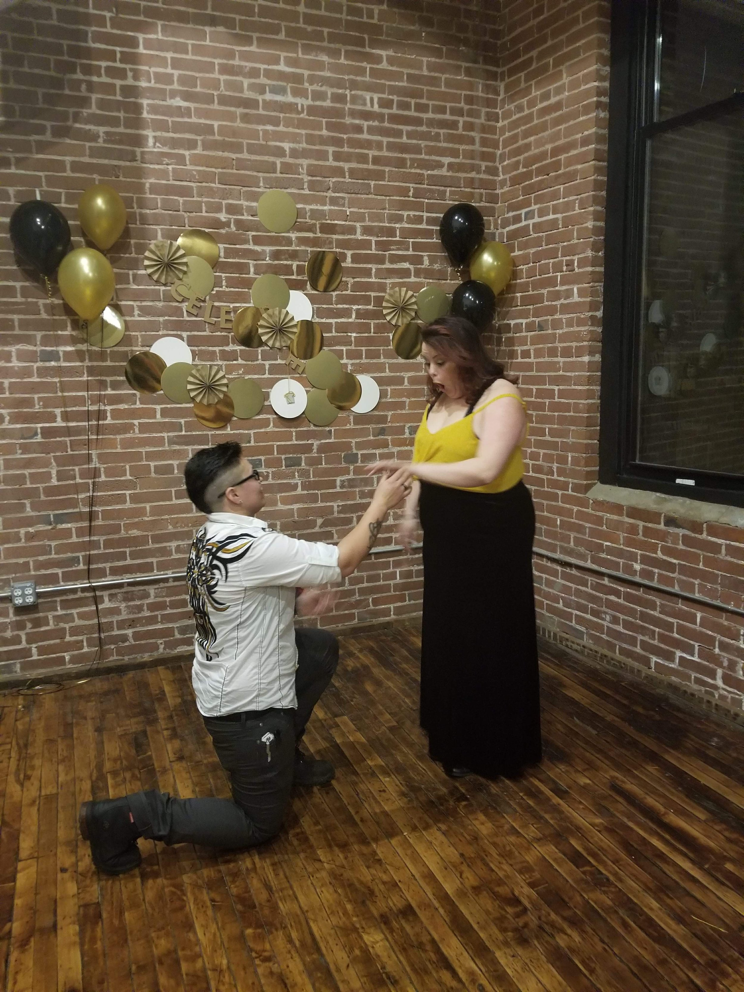 Jordan is great at surprises - At the grand opening of the studio in March 2018, Jordan surprised Amanda by getting down on one knee in front of their friends and family and gave her a new wedding ring set after her previous ring was stolen months before. Proof, despite what Amanda had been saying for the last 4 years, that Jordan is actually really great surprises.