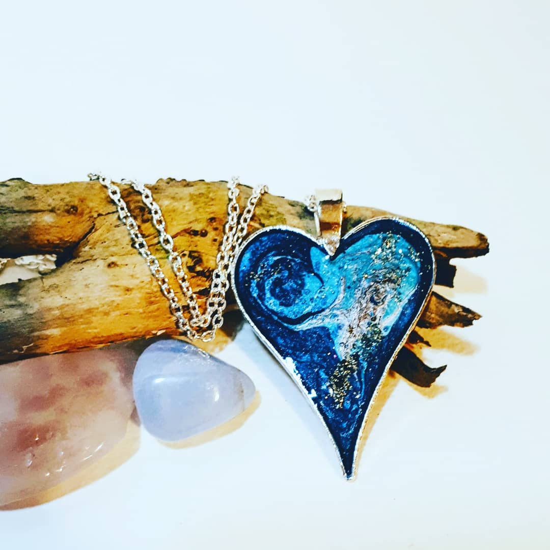 - Energy Art Pendants made with energy healing with choice of personal favorite colour with glitter design.