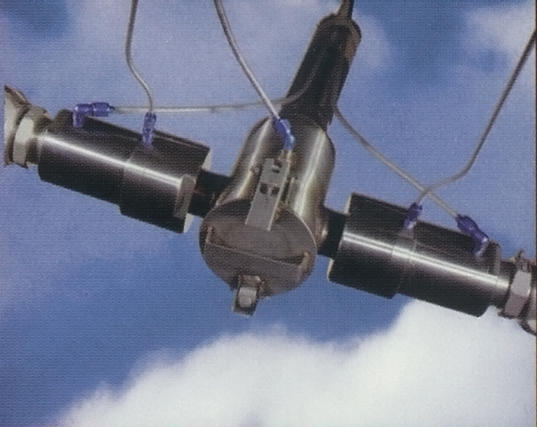 pneumatic split-boom system