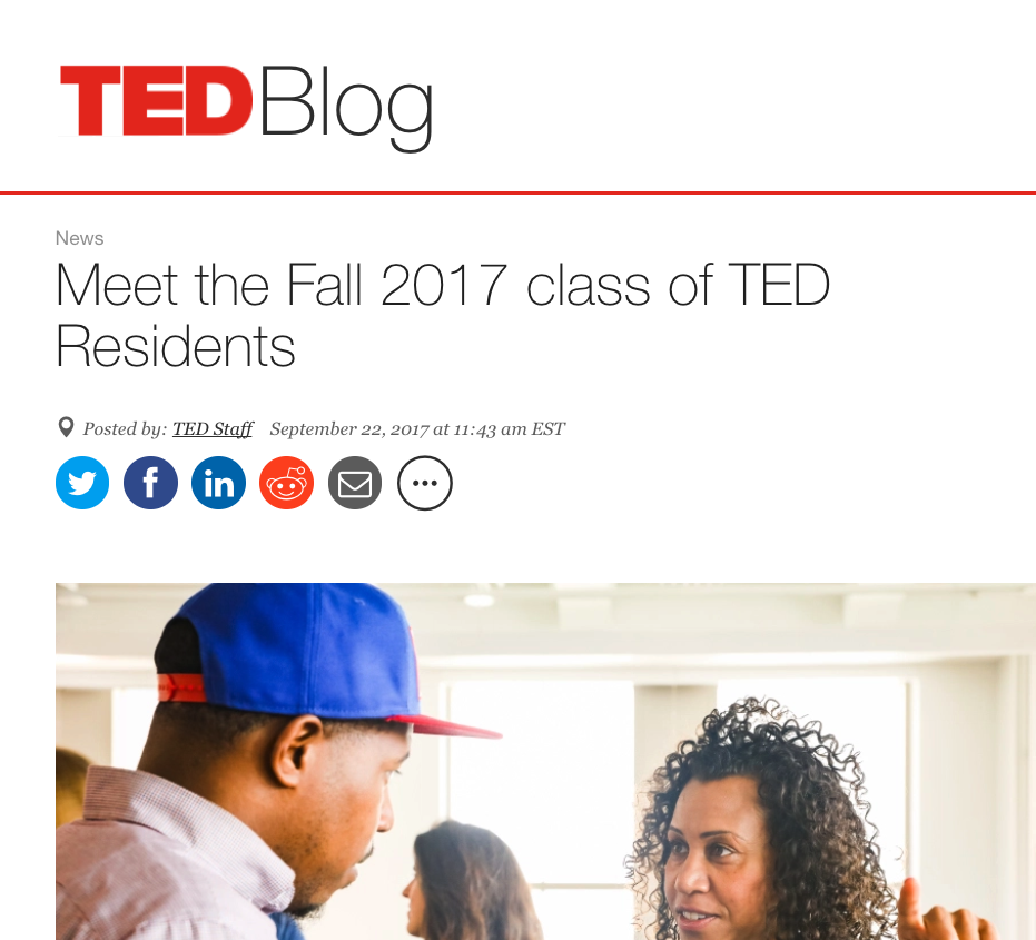 TED Official Blog – Sept. 2017