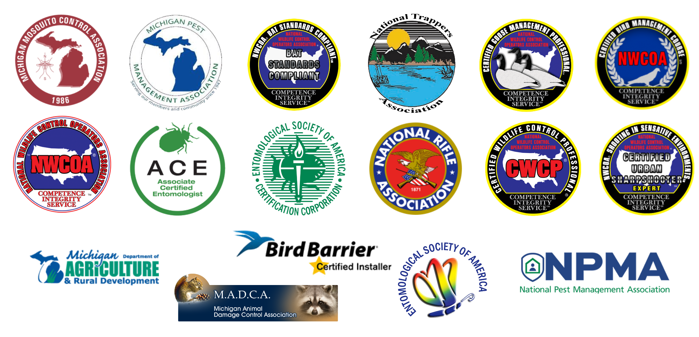 pest and wildlife logos for certifications and associations.png