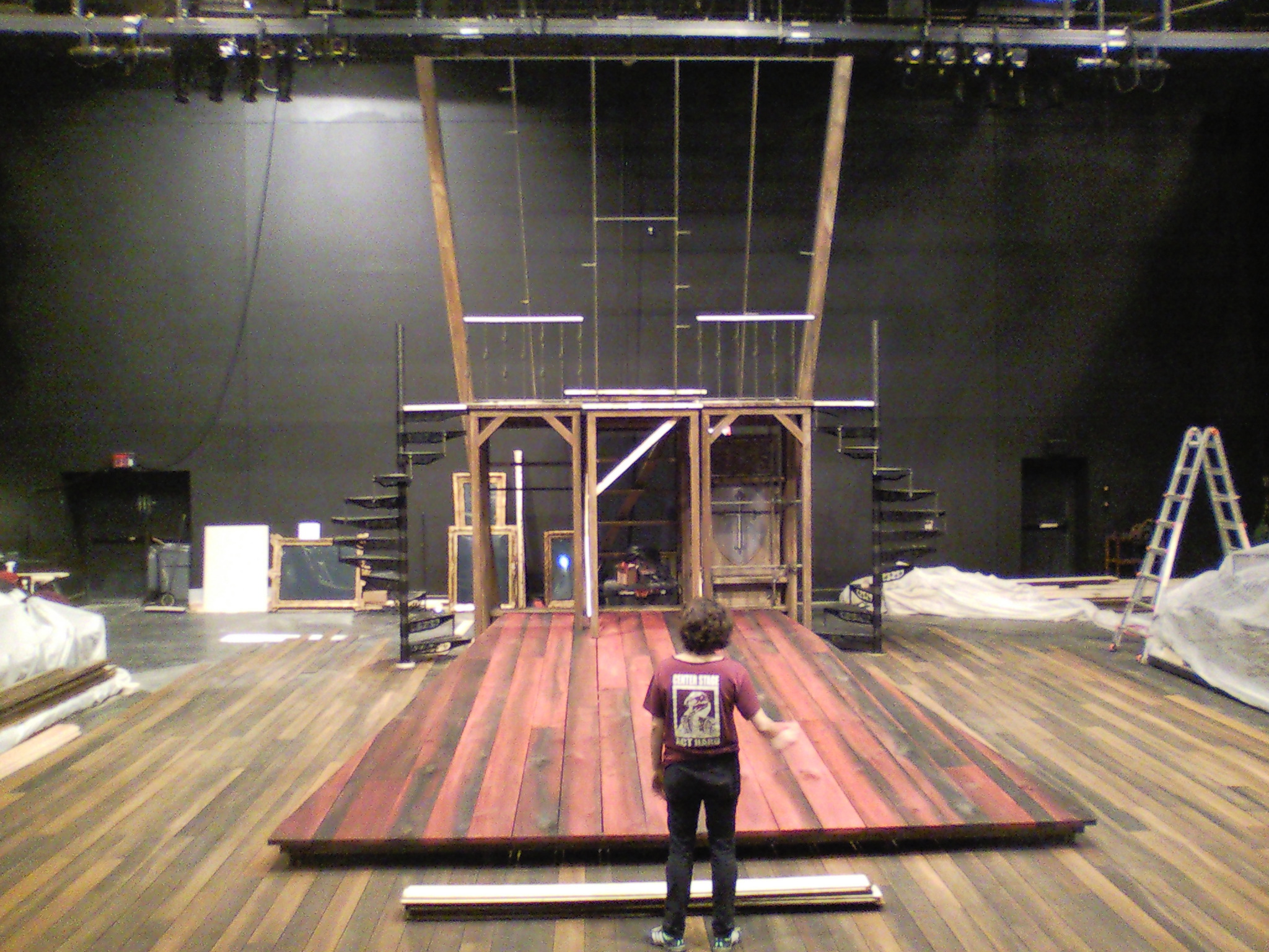 Cyrano  set under construction.