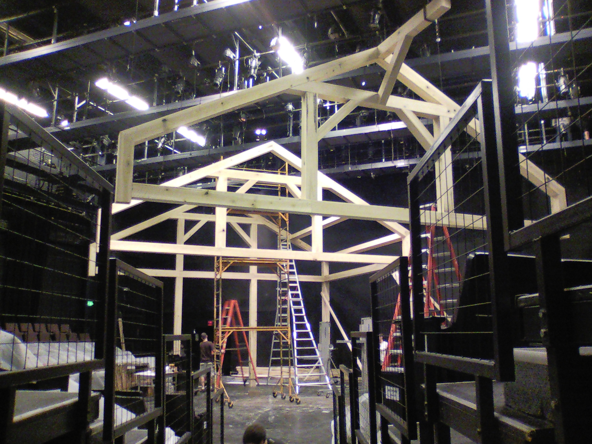 The  Charlotte's Web  set under construction.