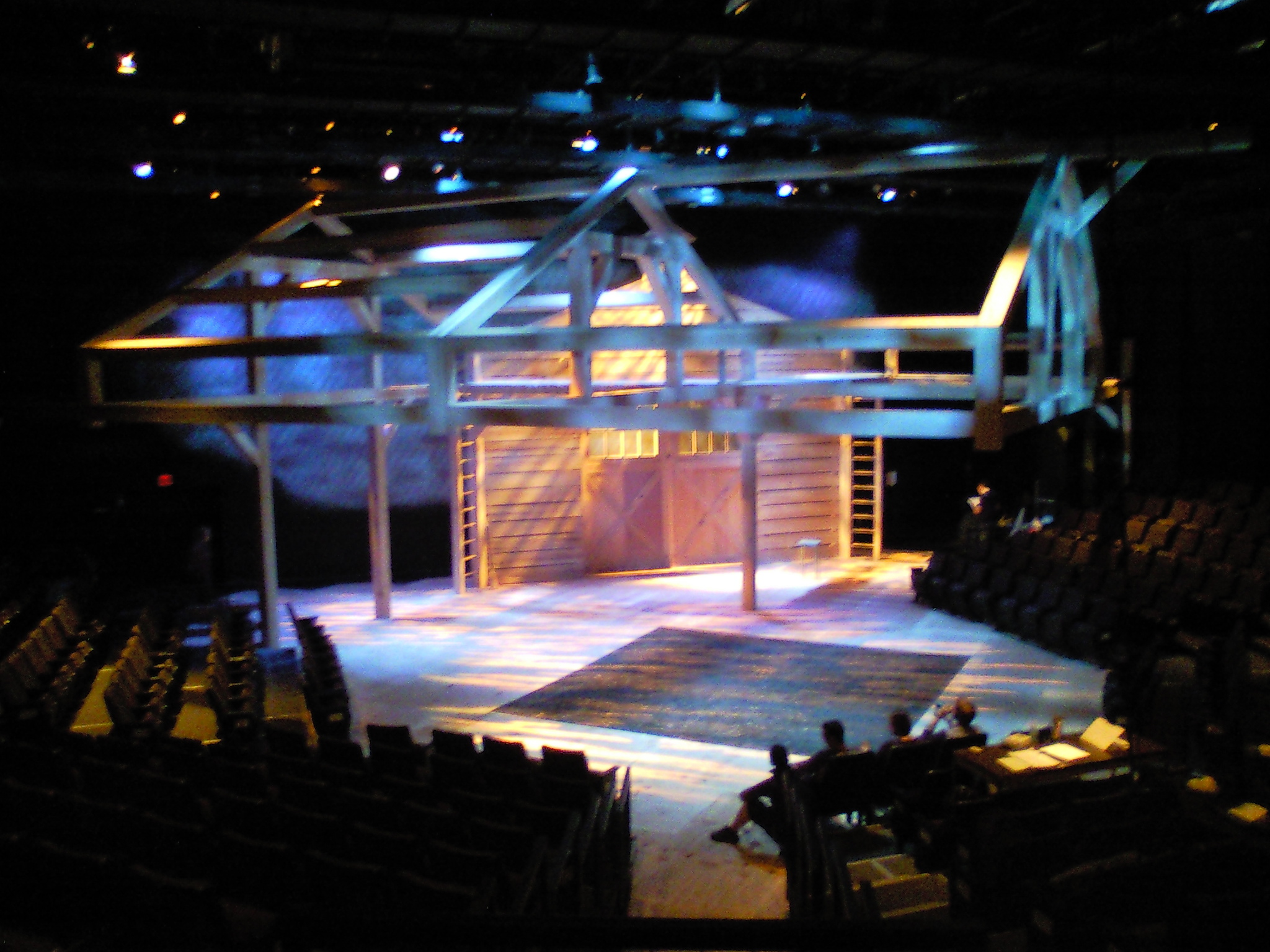 Charlotte's Web  finished set.  The show used an actual pit of dirt and mud, a fun production challenge for sure!