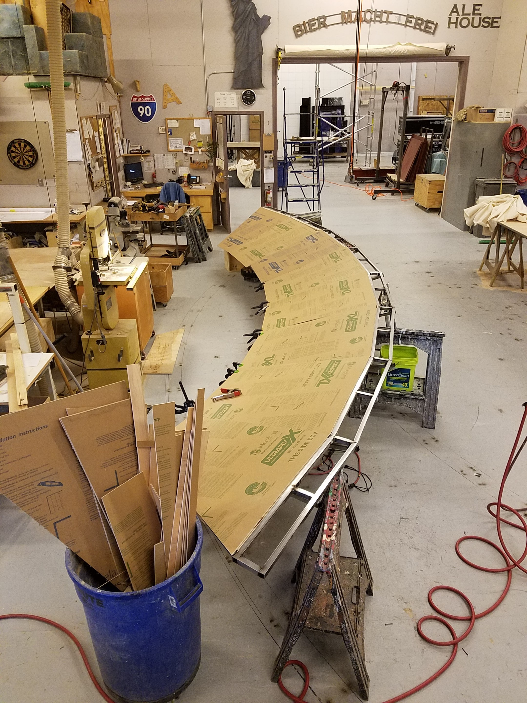 Arch covering in process.
