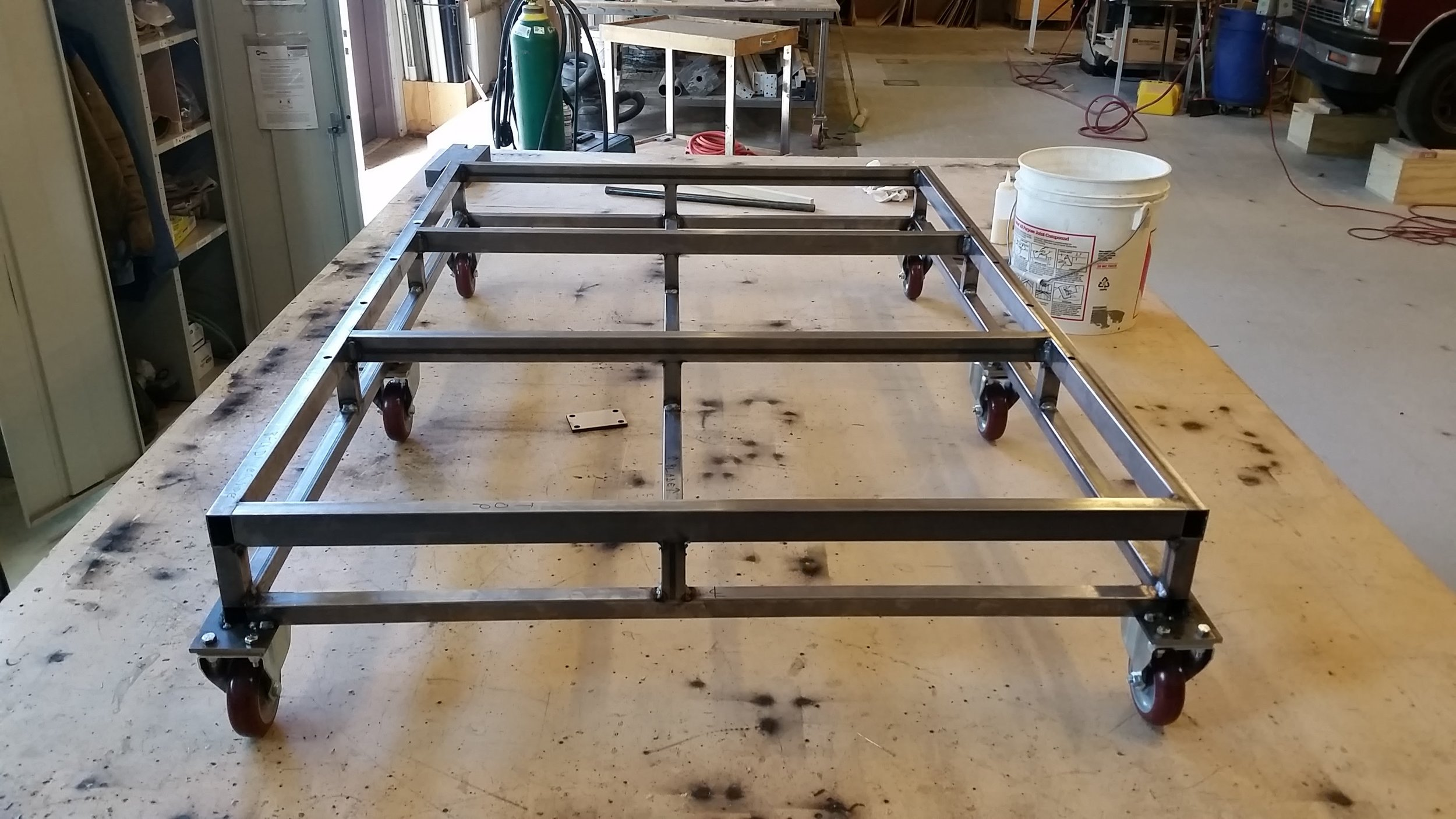 Truck carriage frame, before extra casters were added.