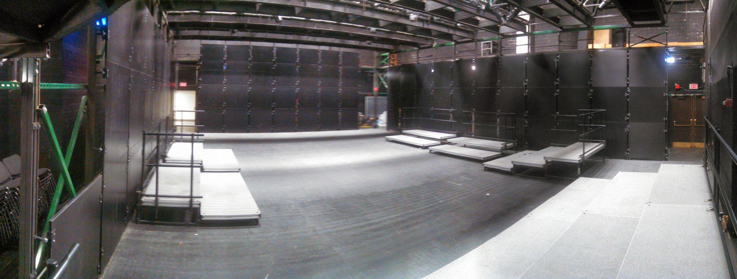 New Studio Theatre walls installed.