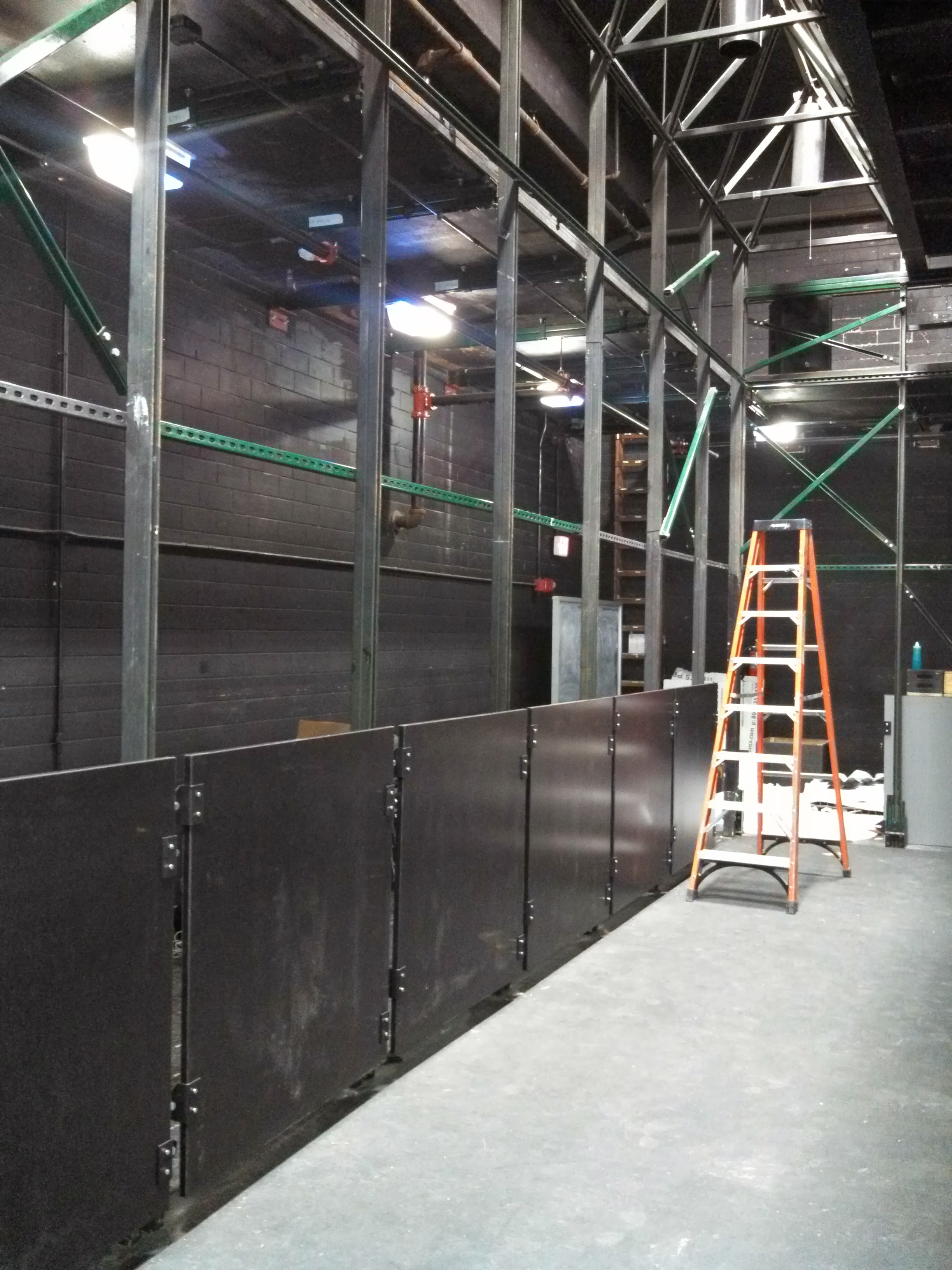 Installation process of new modular panels.