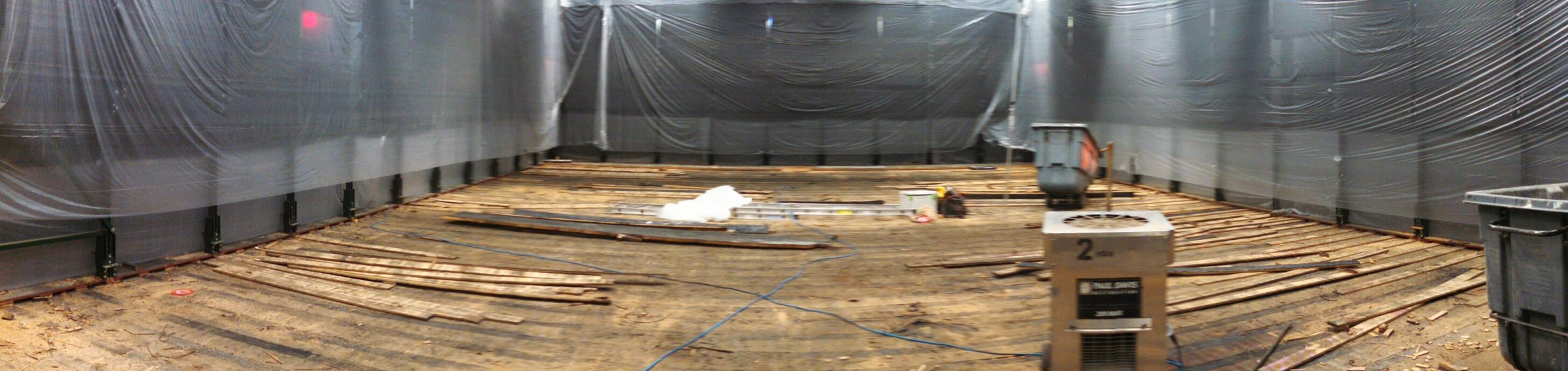 Floor demolition.