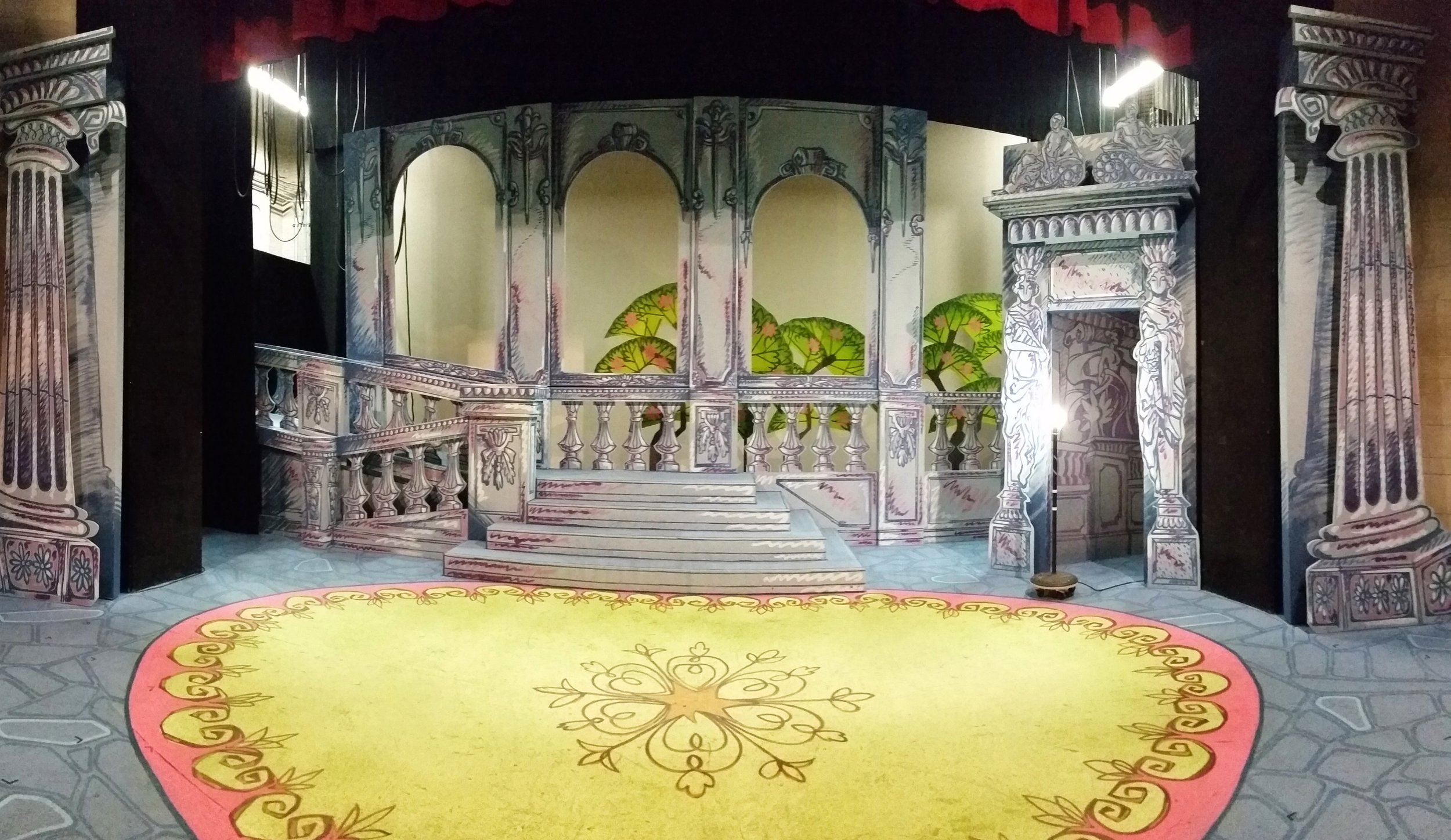 Dog in the Manger  set designed by Cully Long.