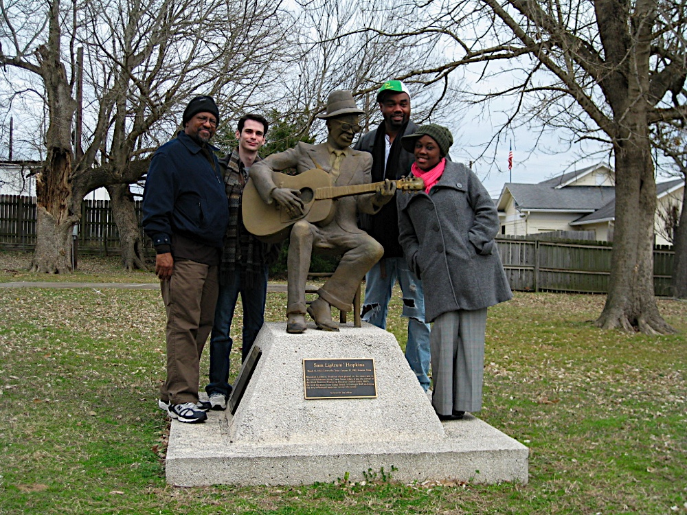 The cast of  Blues Journey , from the left to right: Keith N. Johnson, James Flanagan, Kevin Ray Johnson, and Kearstin Piper Brown.