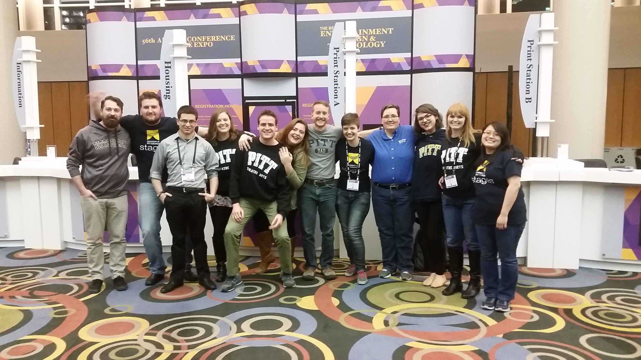 Pitt students, staff, faculty and alumni at USITT 2016 Salt Lake City.
