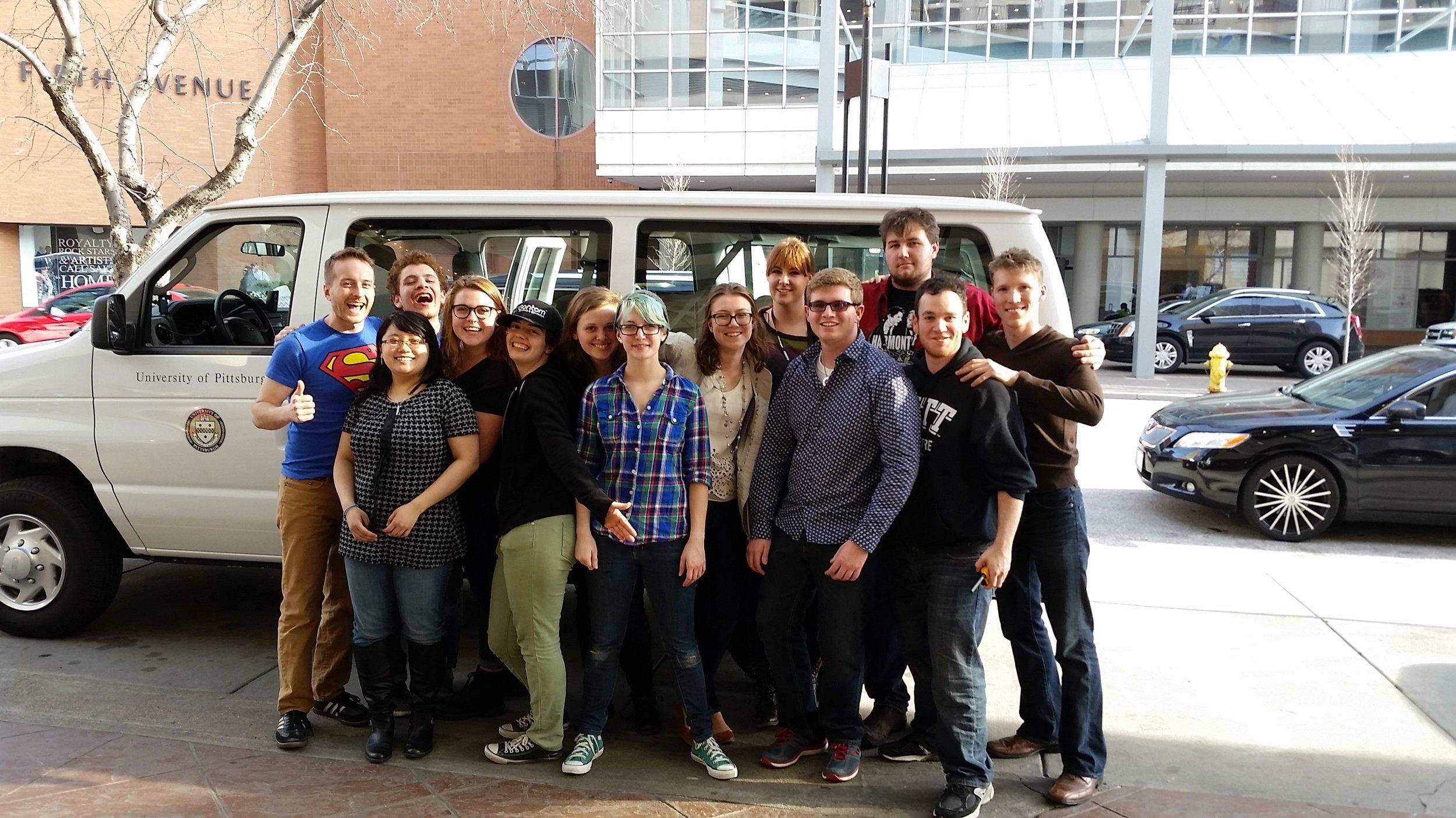 I had the pleasure of driving a van full of Pitt students to USITT 2015 Cincinnati.