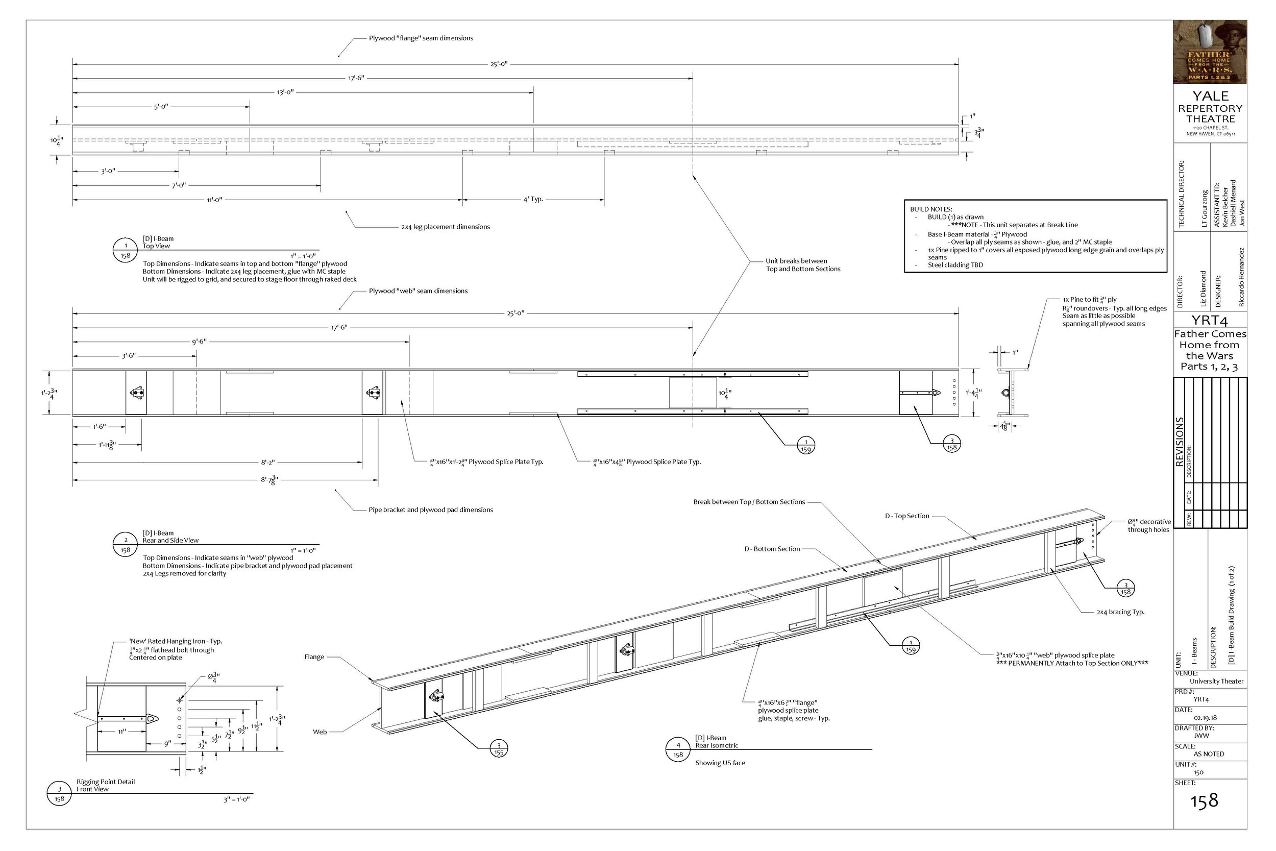 Sample build drawing for I-Beam Construction - Jon West, 2018. -  PDF available here