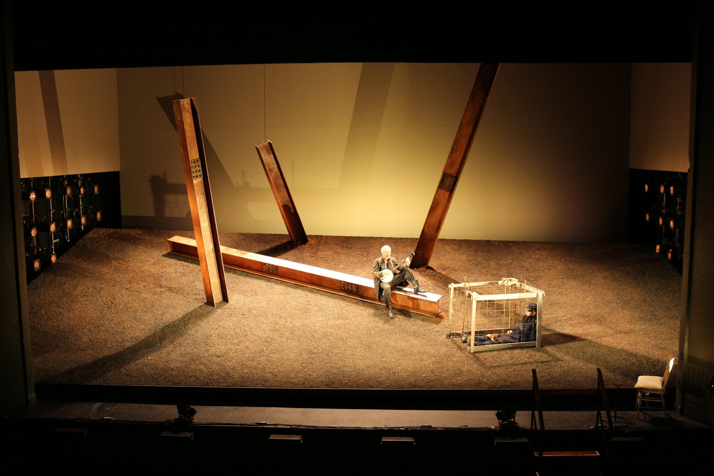 Completed set under stage light