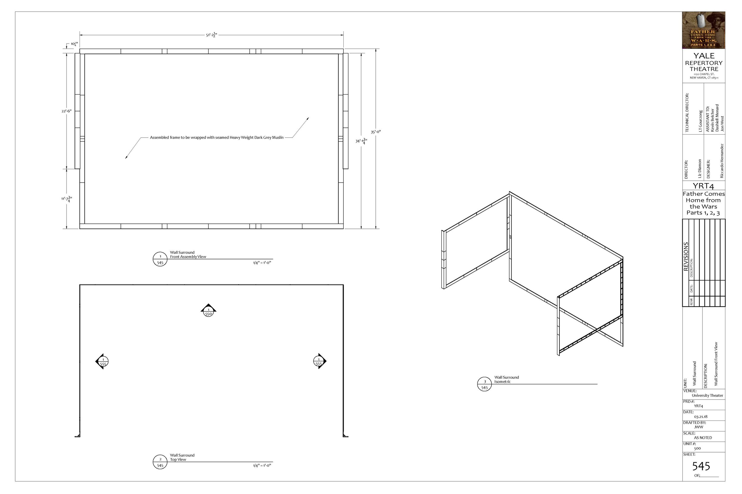 Wall Surround assembly drawing - Jon West, 2018.  PDF available here