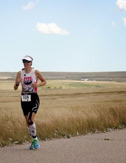 Running at Harvest Moon Triathlon 2014