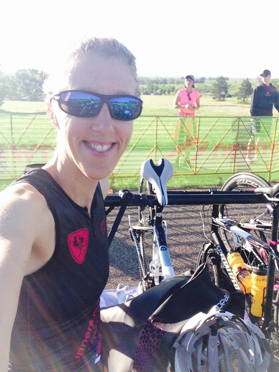 Getting ready to race a triathlon