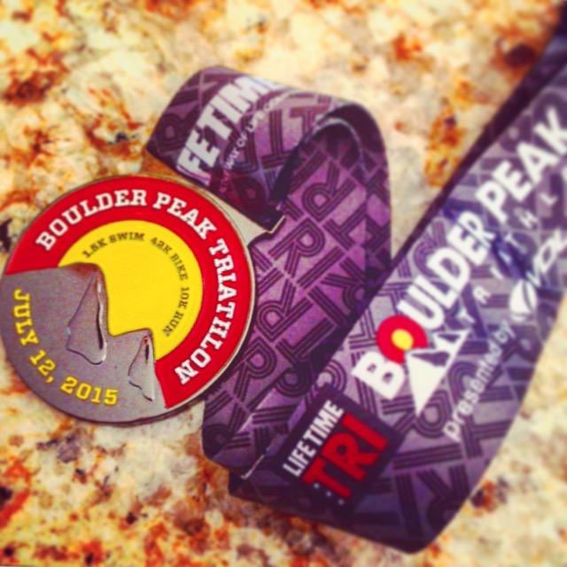 Boulder Peak Triathlon Medal