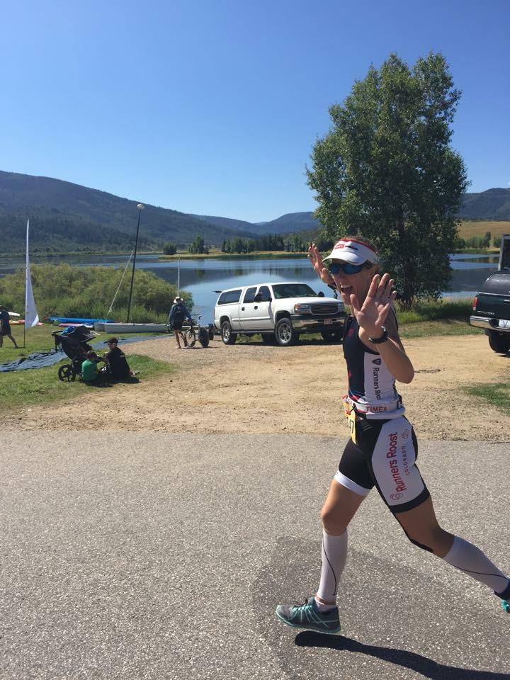 Steamboat Springs, Colorado Triathlon finish