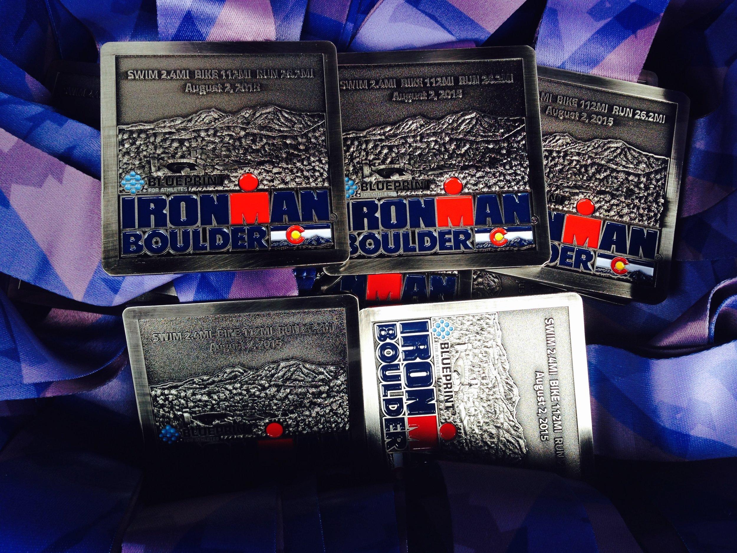 Boulder Ironman Medals