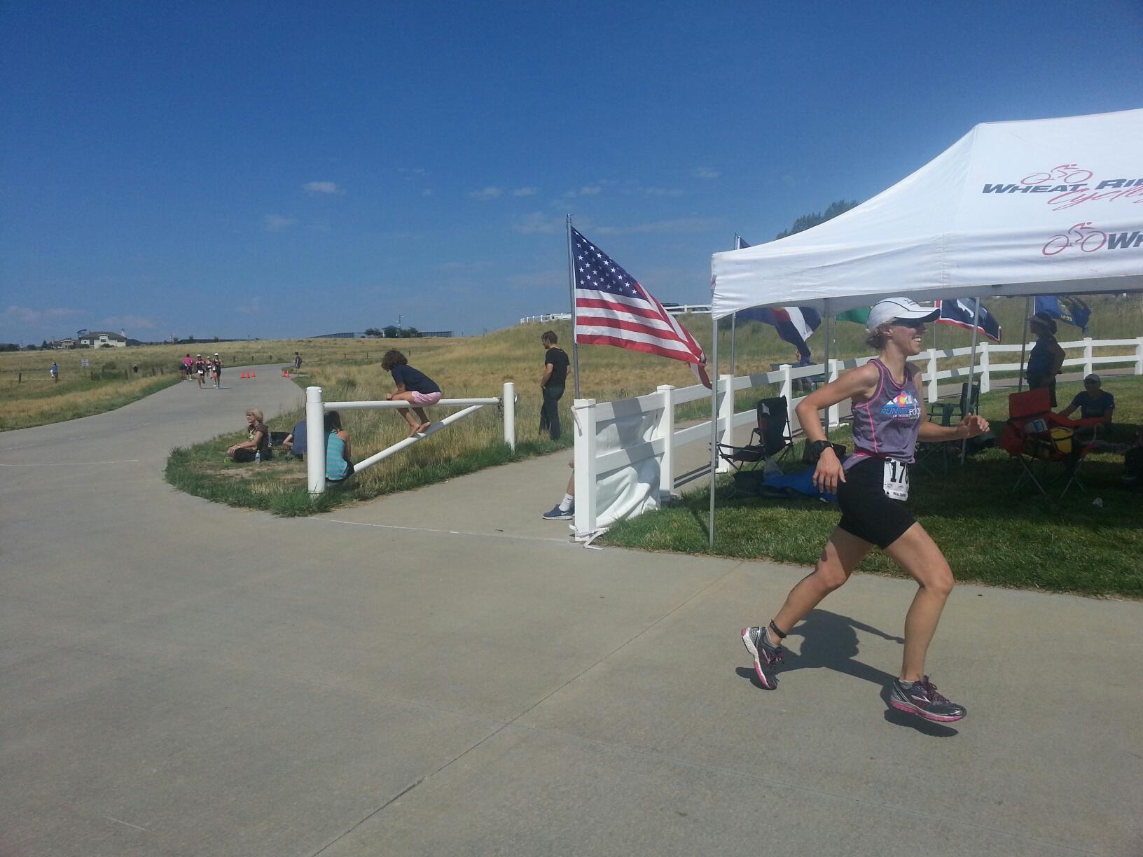 Finishing Rattlesnake Olympic Triathlon