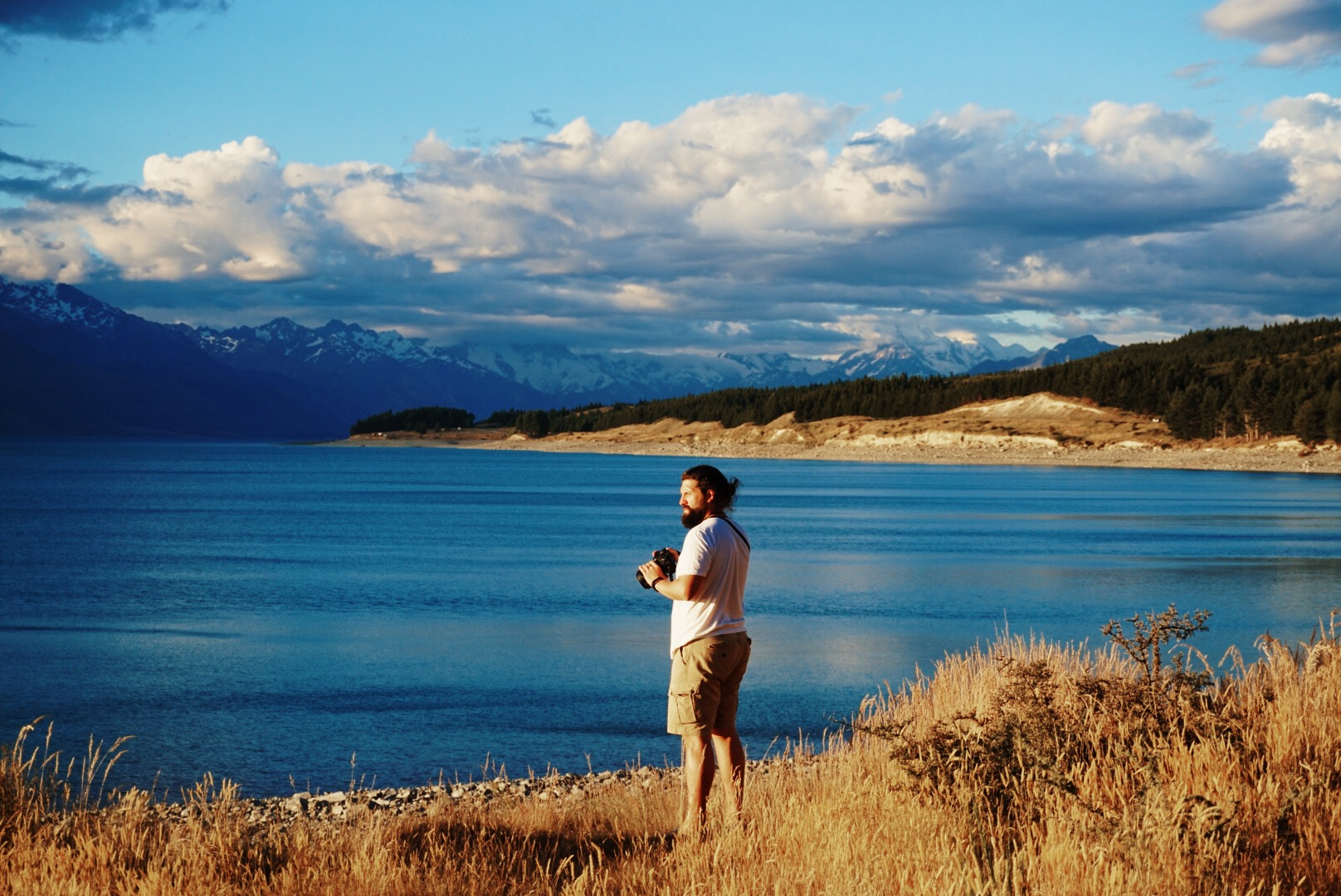 Lake Pukaki and Mt. Cook