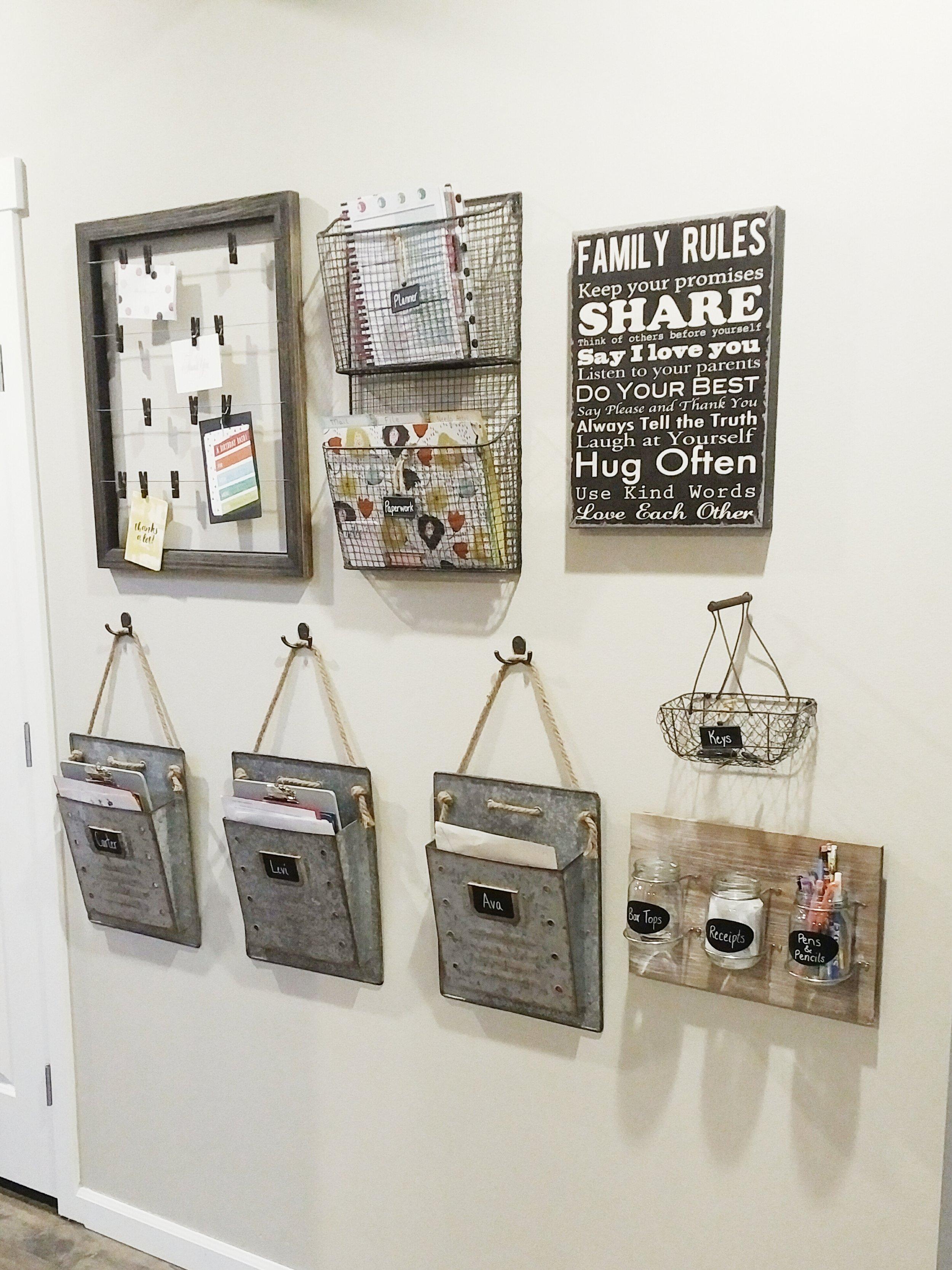 Family Command Center - Interior Styling & Organization
