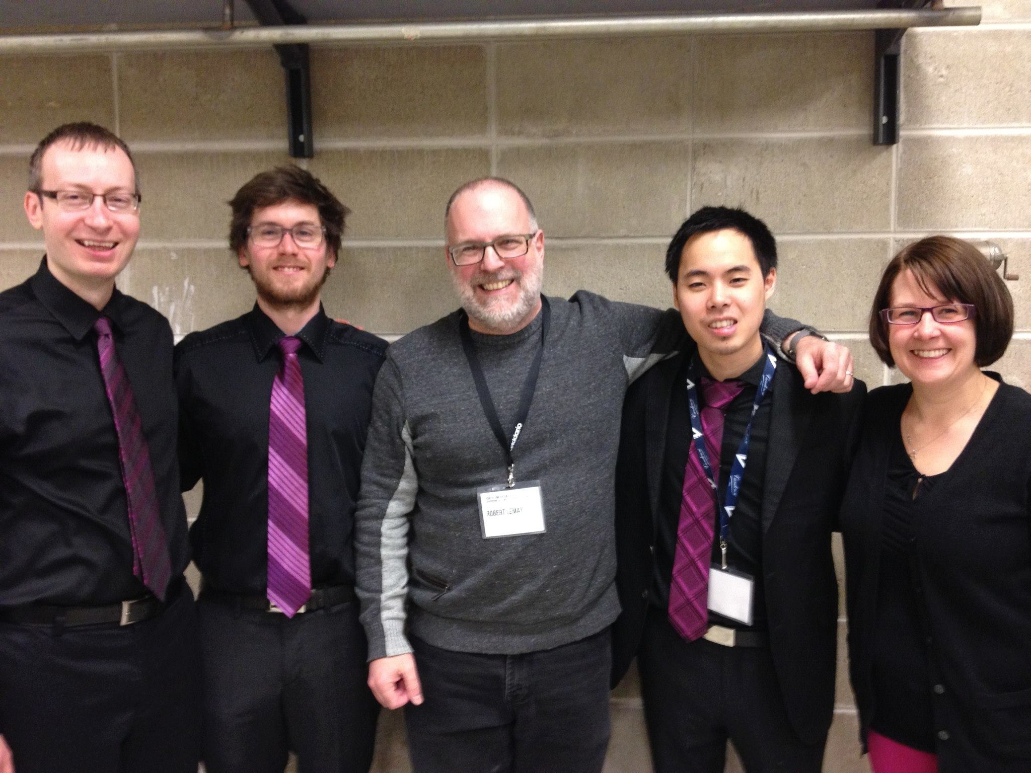 Proteus at the 2014 NASA Biennial Conference in Illinois with composer Robert Lemay