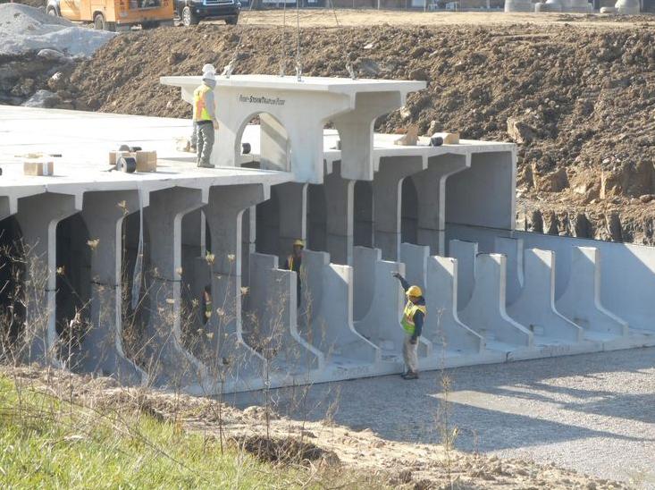 Storm water vault construction