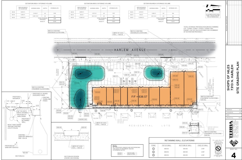 Shops of Niles Grading Plan