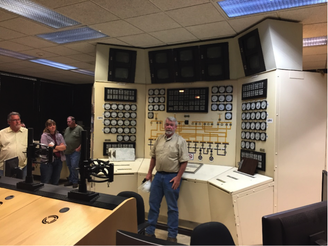 An original 1970's computer featured in the control room